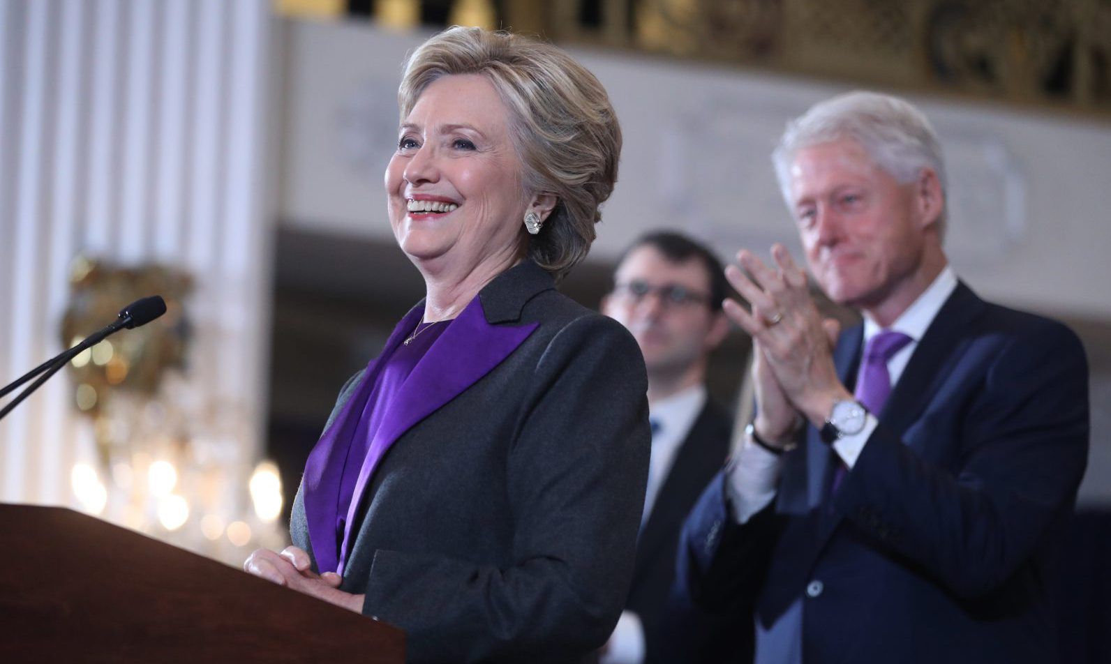Democratic presidential candidate Hillary Clinton speaks in New York, Wednesday, Nov. 9, 2016.