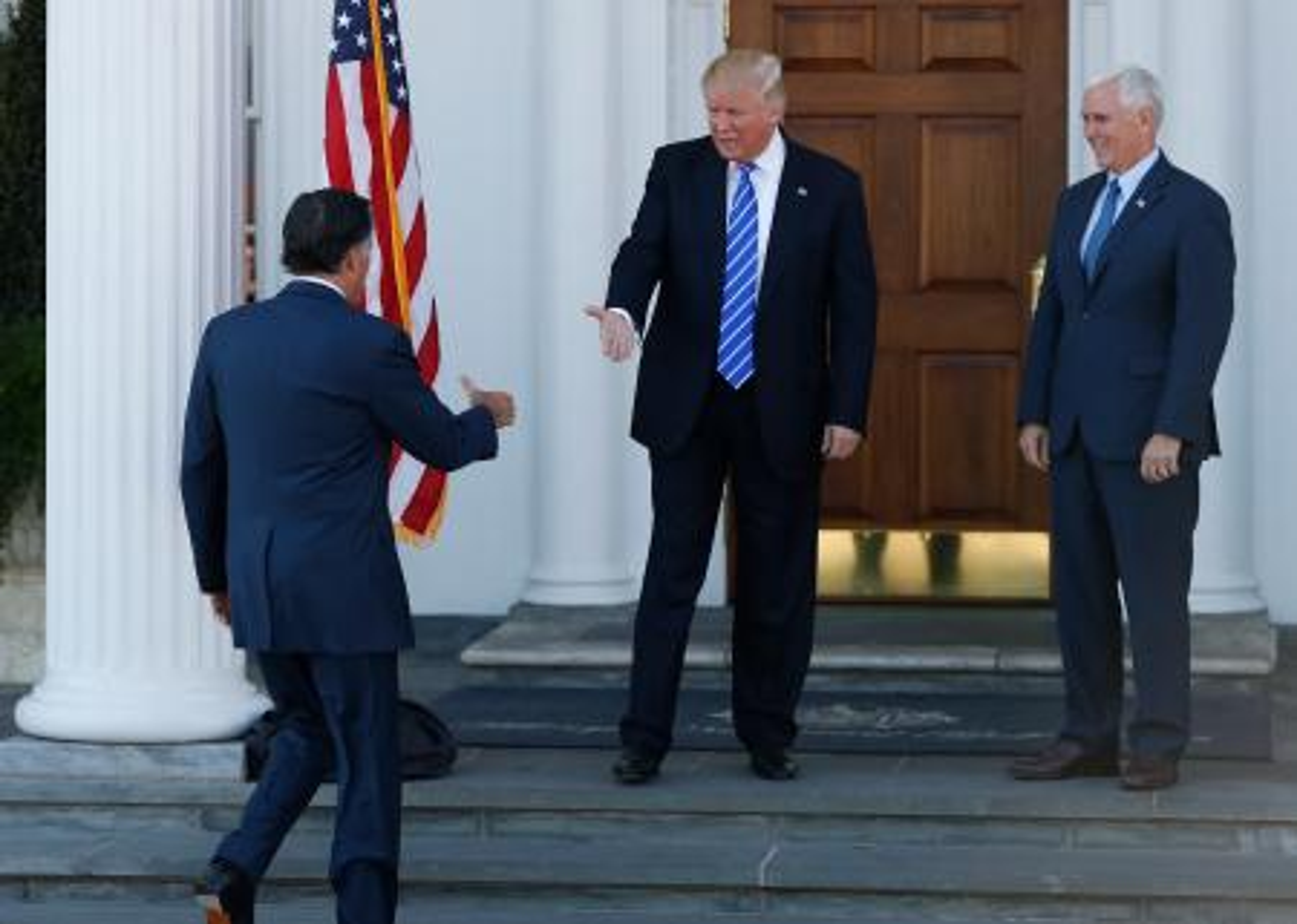 Donald Trump, Mike Pence, Mitt Romney
