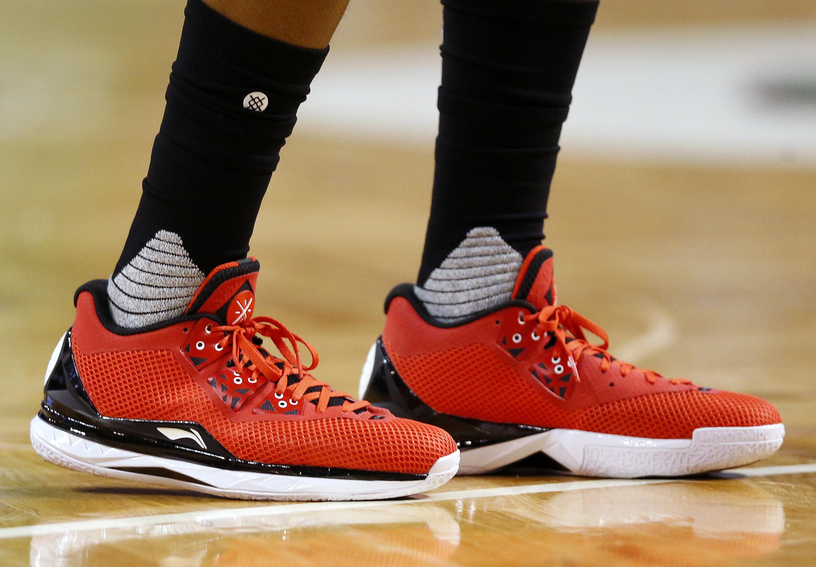 Photo of the Li Ning shoes of Miami Heat's Dwyane Wade
