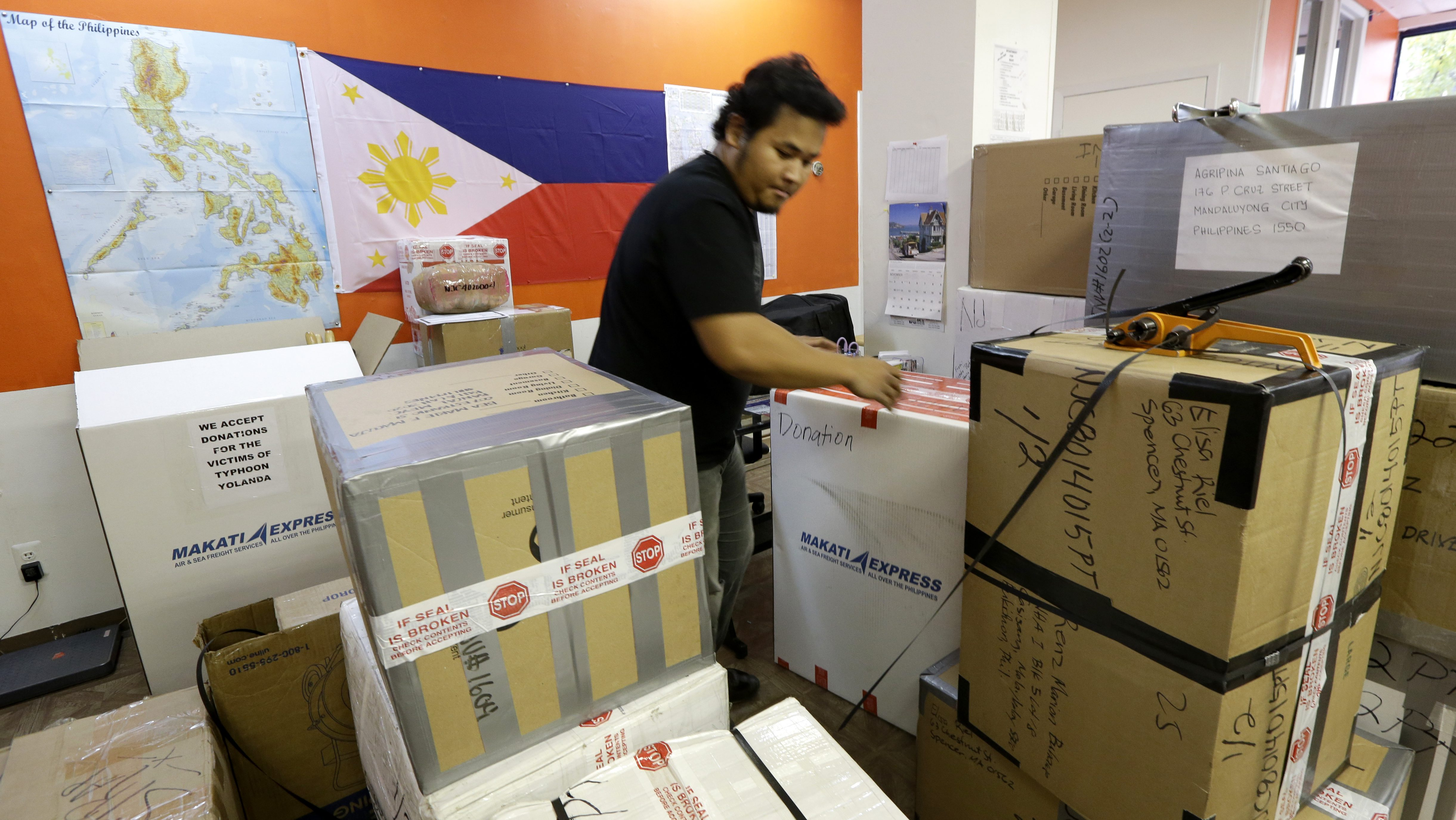 Balikbayan: Gigantic boxes filled with gifts are sent home to the