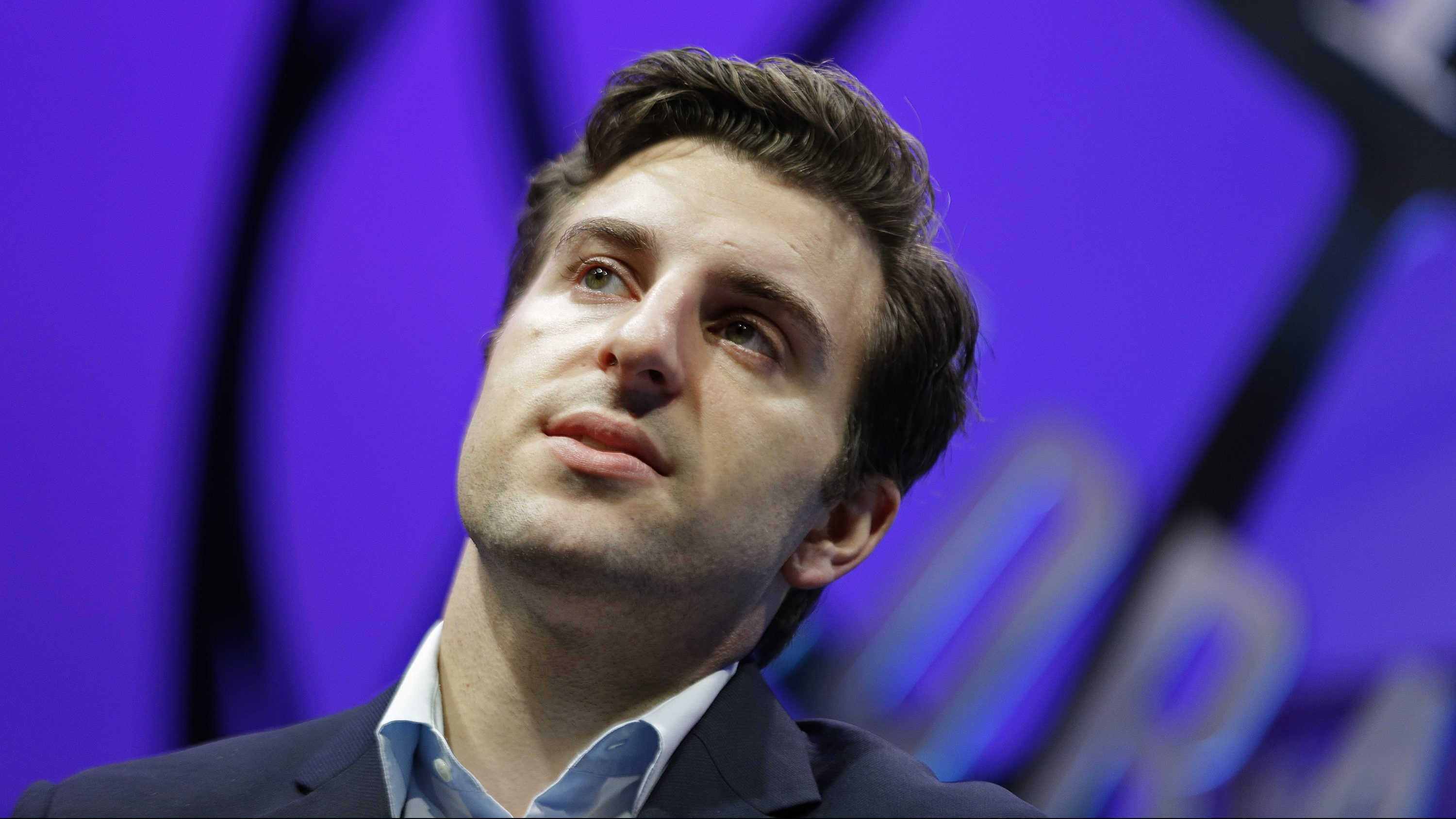 Airbnb co-founder and CEO Brian Chesky at the Fortune Global Forum Wednesday, Nov. 4, 2015, in San Francisco. San Francisco voters rejected two ballot measures prompted by the city's housing crisis. Voters rejected a proposal to restrict Airbnb and other short-term platforms and a ballot measure to freeze construction of luxury housing in the Mission District, one of San Francisco's most coveted neighborhoods. Airbnb, by far the world's largest home-share platform, spent more than $8 million to defeat the measure with a blitz of advertising. (AP Photo/Eric Risberg)