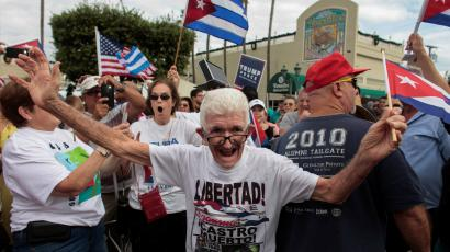 People celebrate Castro's death in Miami