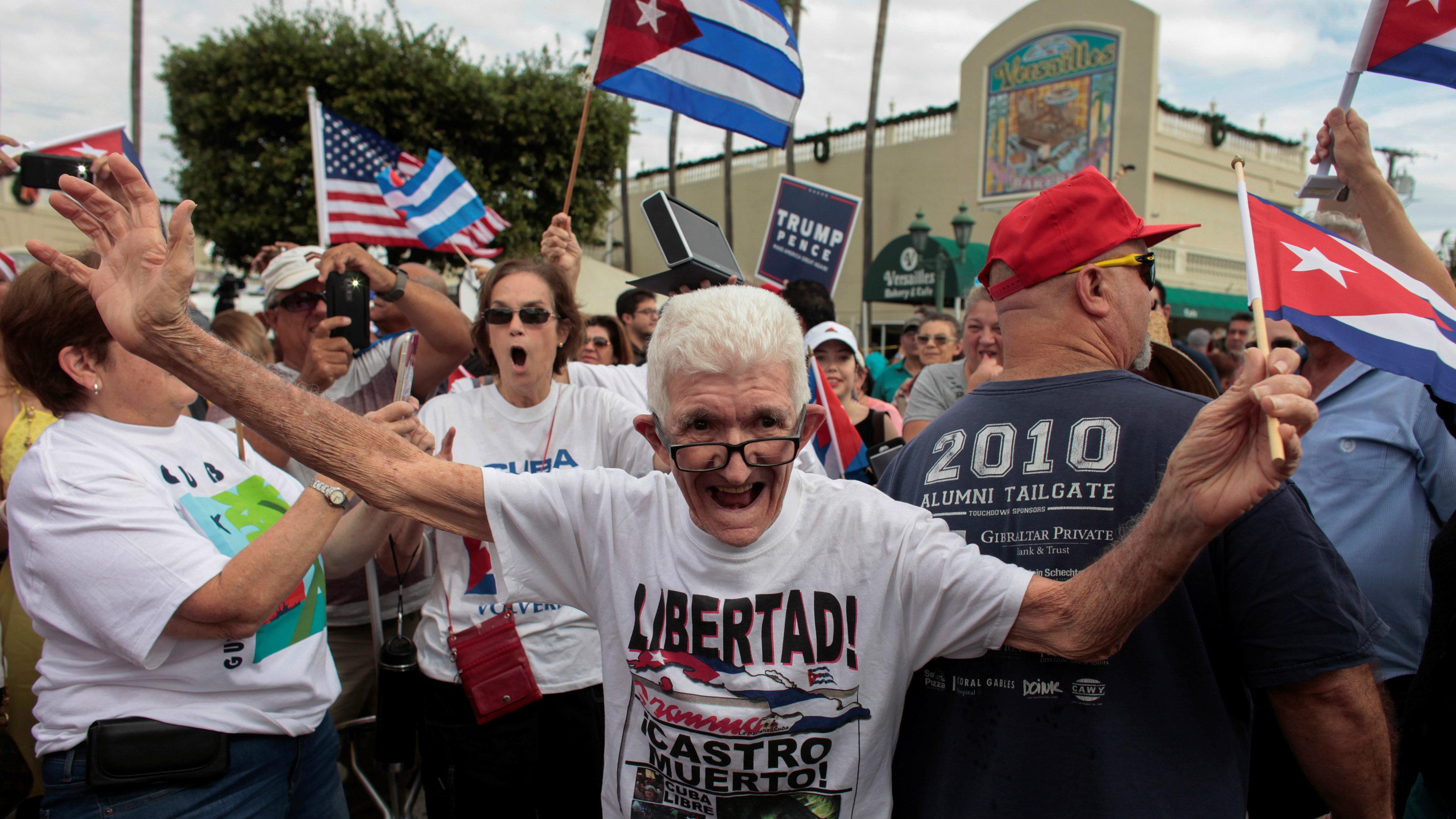 People celebrate Castro's death in Miami