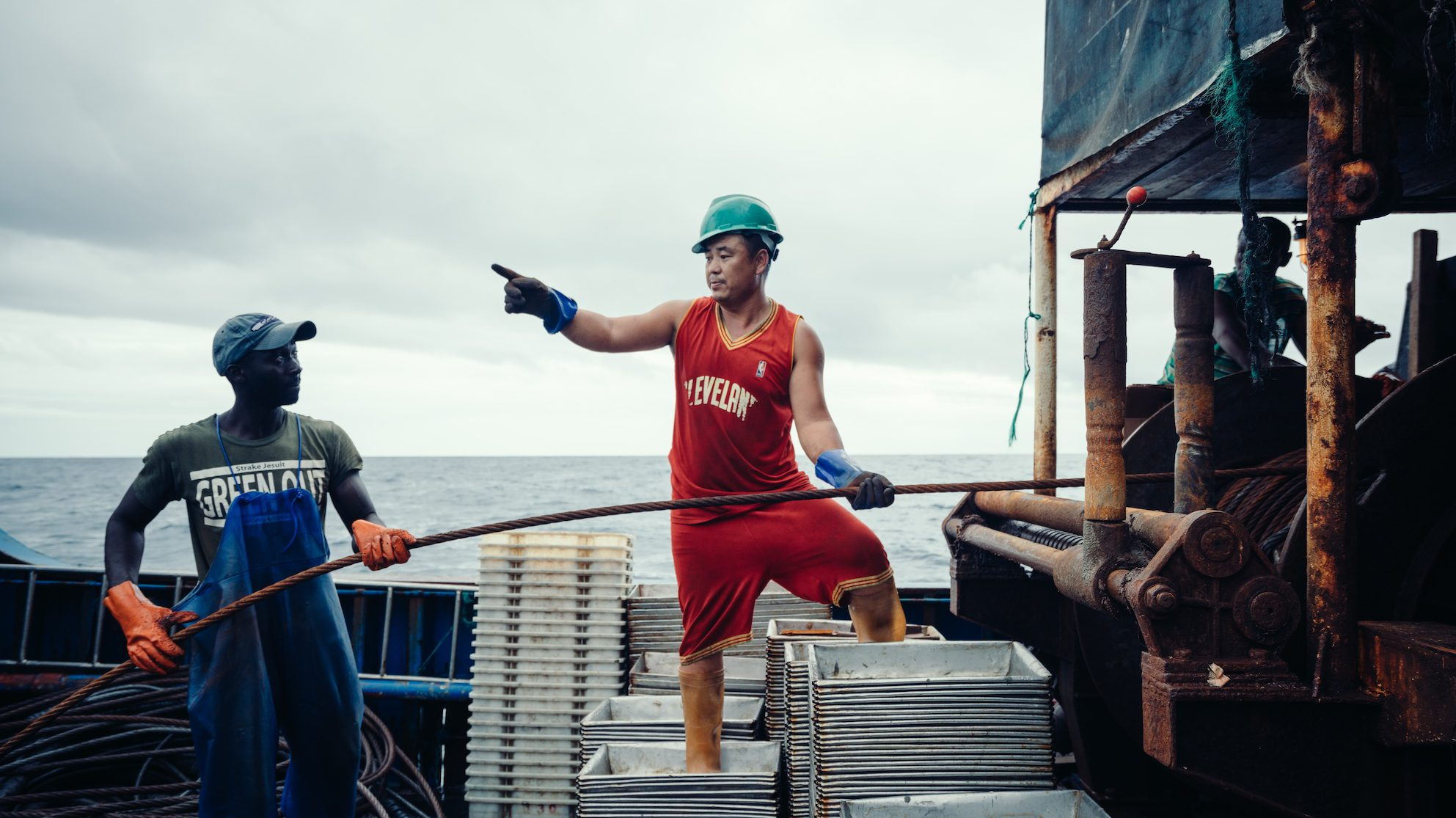 Yuyang Liu, 25, a self-taught Chinese photographer, documented the influx of Chinese fishing fleets for the nonprofit Greenpeace.