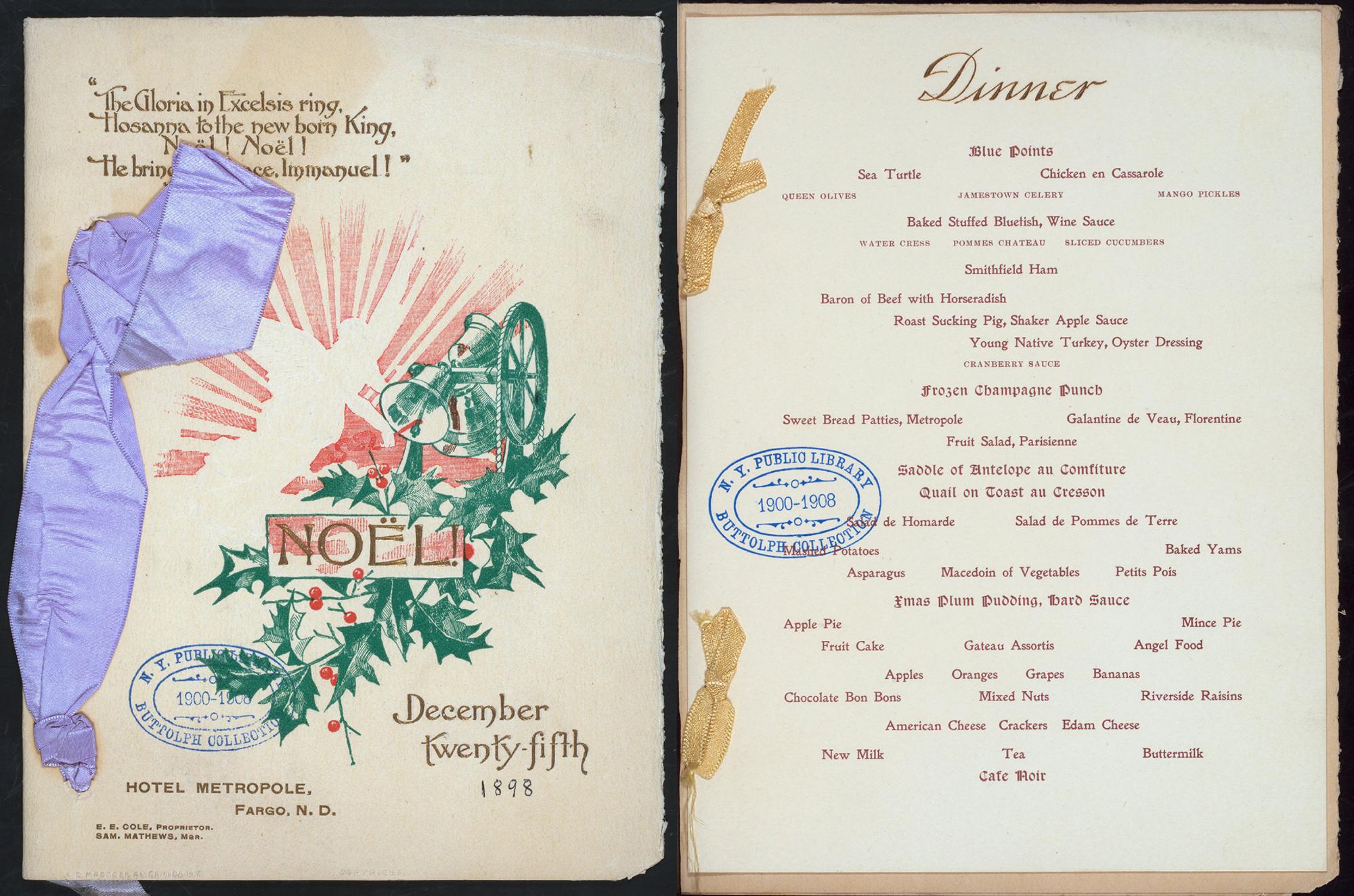 Vintage Christmas dinner