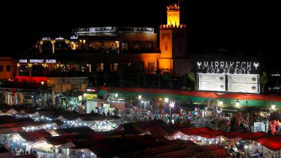 Jamaa el Fena square is seen in Marrakech, Morocco, the city where the UN Climate Change Conference 2016 (COP22) is being held November 11, 2016.