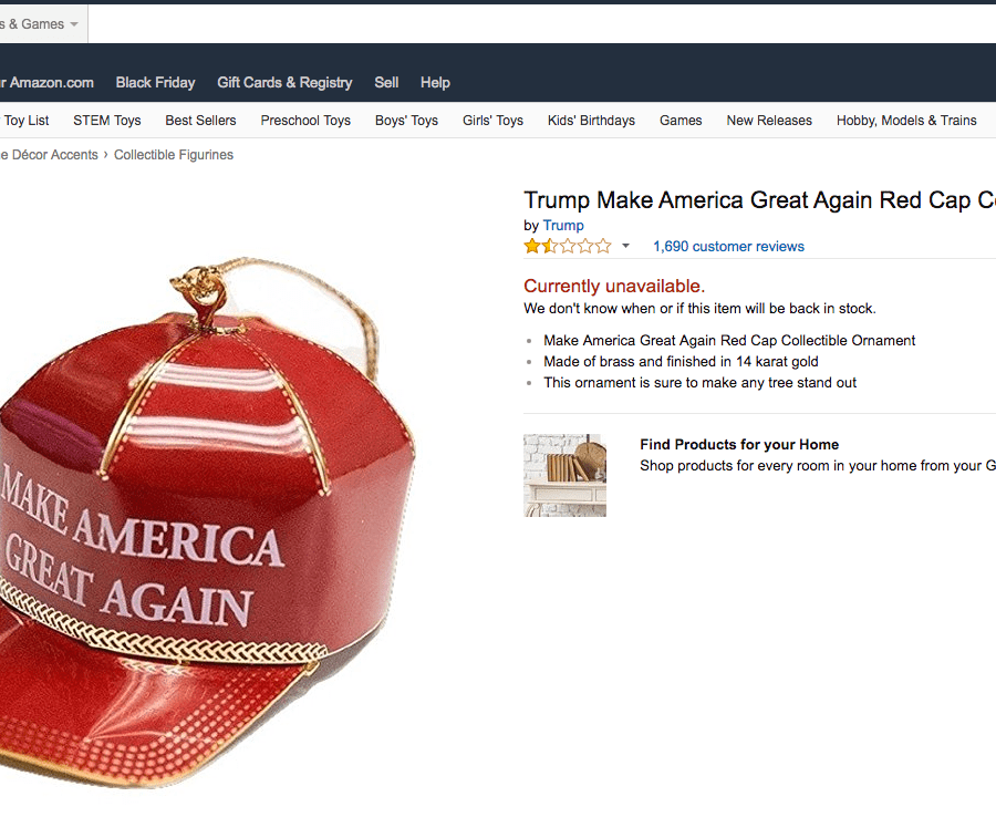 the donald trump christmas ornament for sale on amazon amzn might be a hoax but the reviews are awesome quartz