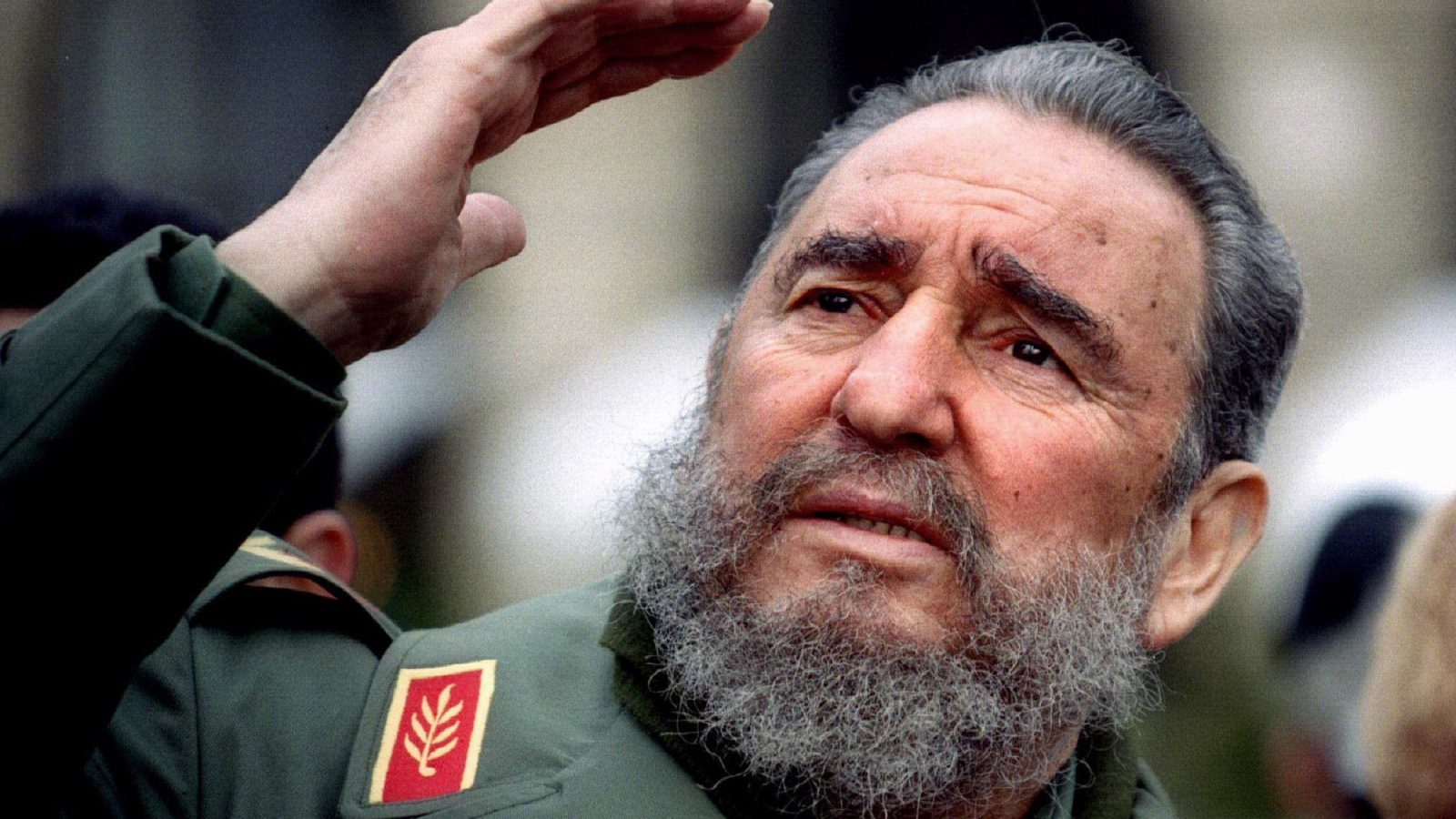 Cuba's President Fidel Castro gestures during a tour of Paris in this March 15, 1995 file photo. Ailing Cuban leader Castro said on February 19, 2008 that he will not return to lead the country, retiring as head of state 49 years after he seized power in an armed revolution.  REUTERS/Charles Platiau/Files (FRANCE) - RTR1XA8X