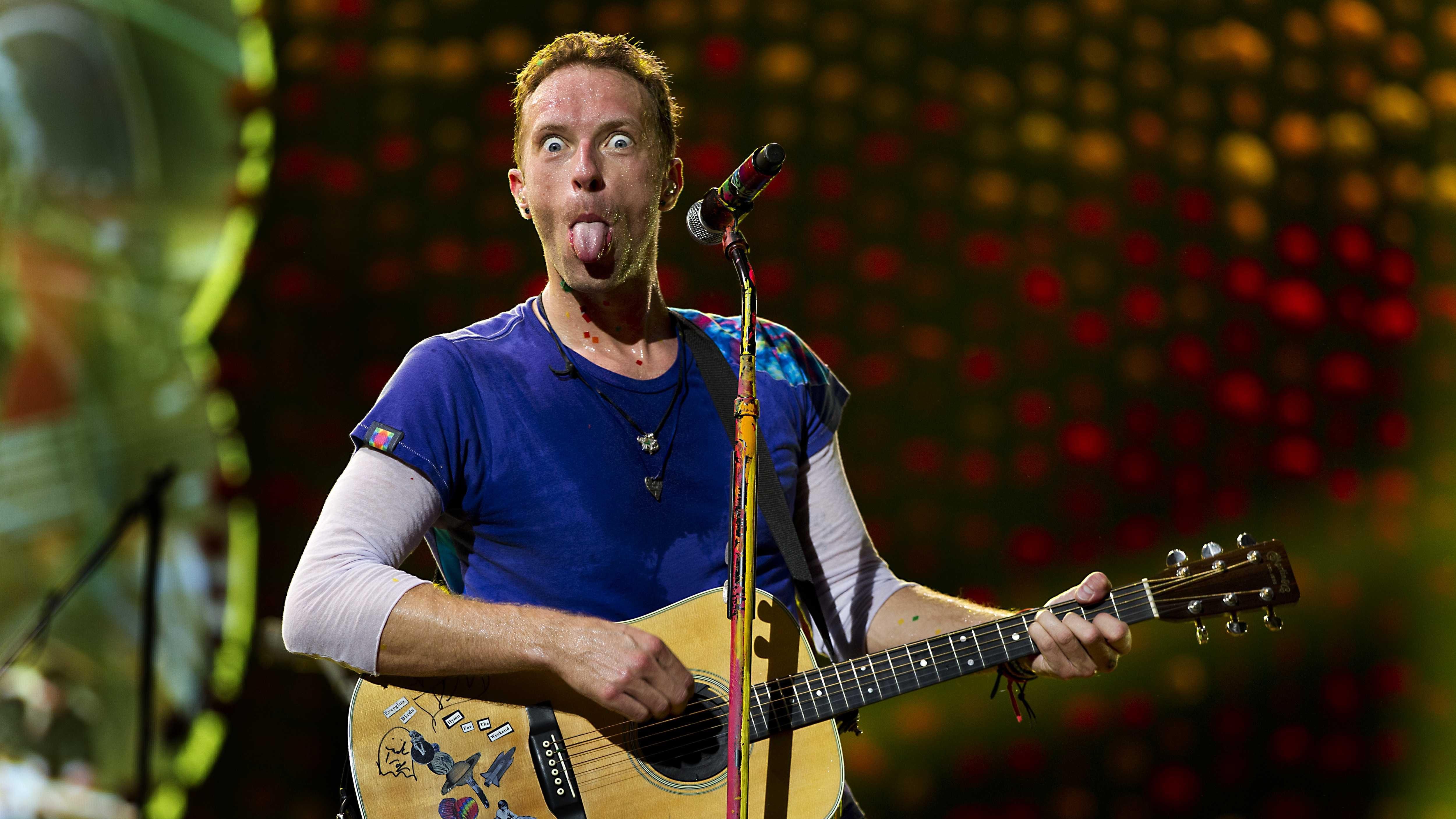 British singer-songwriter Chris Martin, frontman of British band Coldplay.