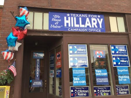 Hillary clinton campaign office in Fort Worth