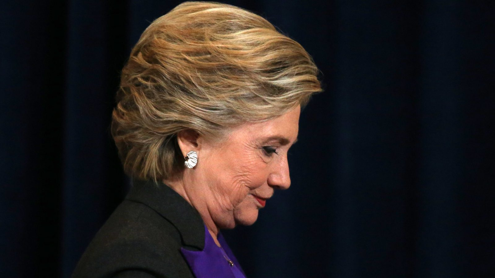 Hillary Clinton attends an event where she addressed her staff and supporters about the results of the U.S. election at a hotel in the Manhattan borough of New York, U.S., November 9, 2016.    REUTERS/Carlos Barria  - RTX2SVA9