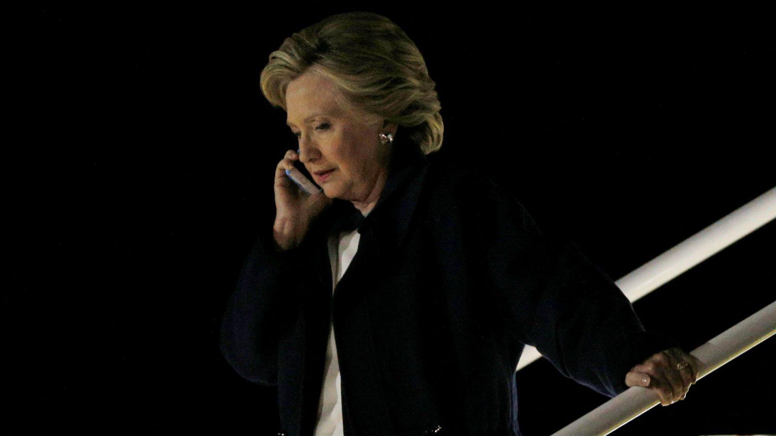 Hillary Clinton concedes.