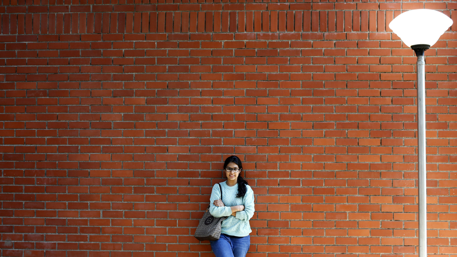 Urvashi Kapila, 19, a college student, poses for a picture at her college campus in New Delhi March 7, 2014. Urvashi, who will be voting for the first time in the upcoming general elections, said the elections will witness the largest youth participation to date and will herald a new kind of politics which she hopes would be a more transparent government. She is among more than 100 million registered new voters, who will cast their ballots when the world's biggest democracy holds a general election that will run from April 7 to May 12.