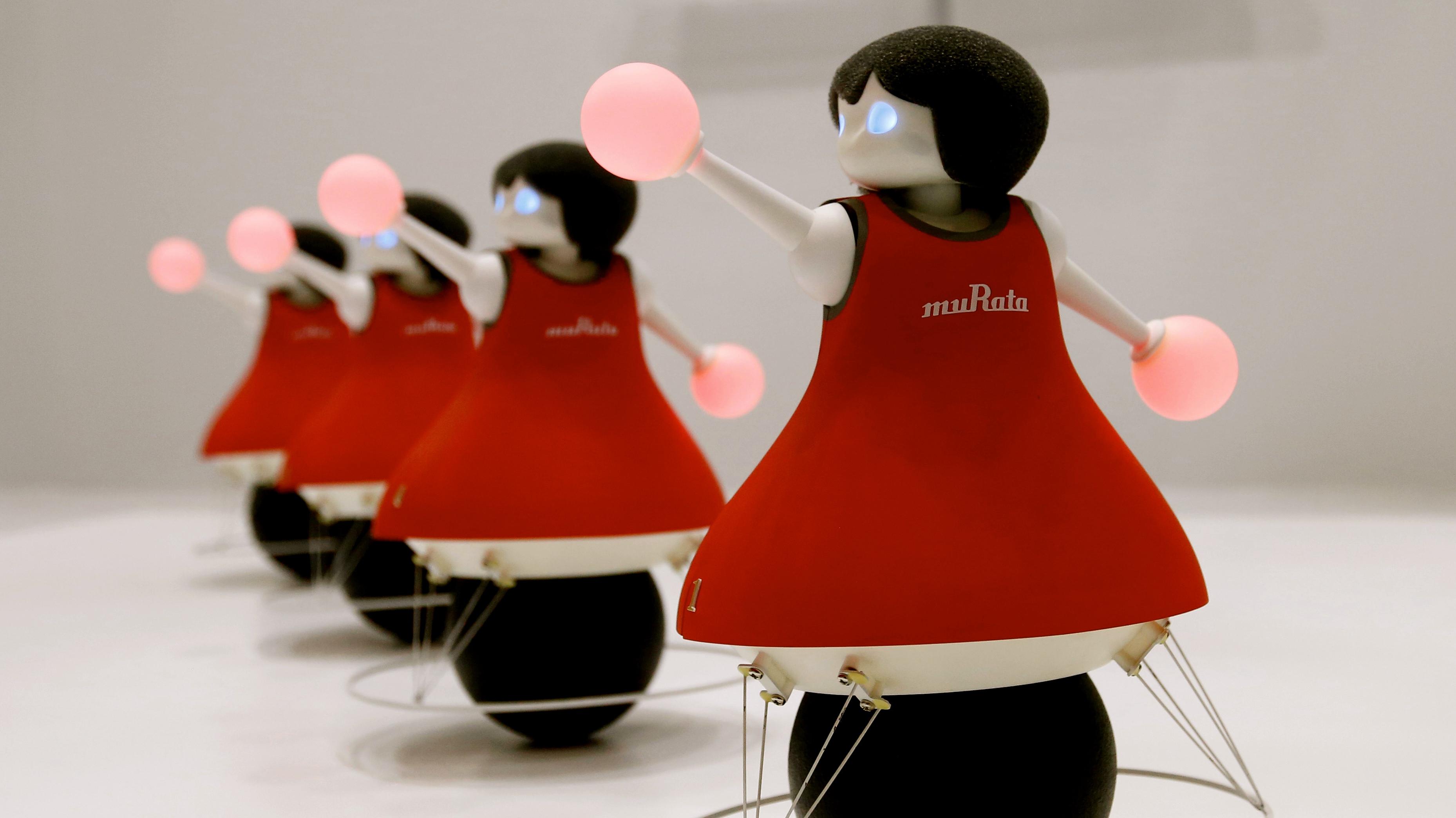 Cheerleading robots.