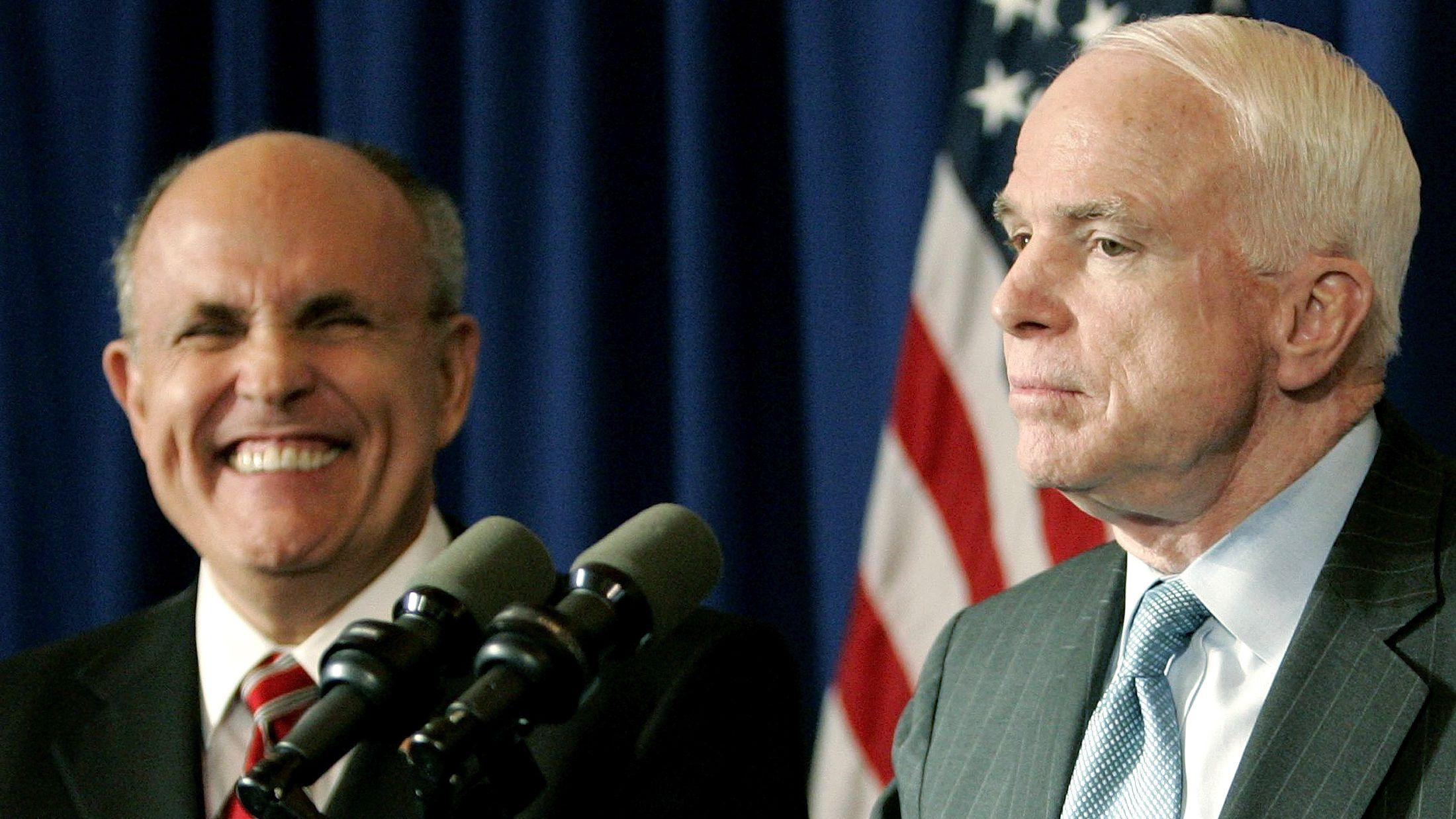 John McCain Rudy Giuliani