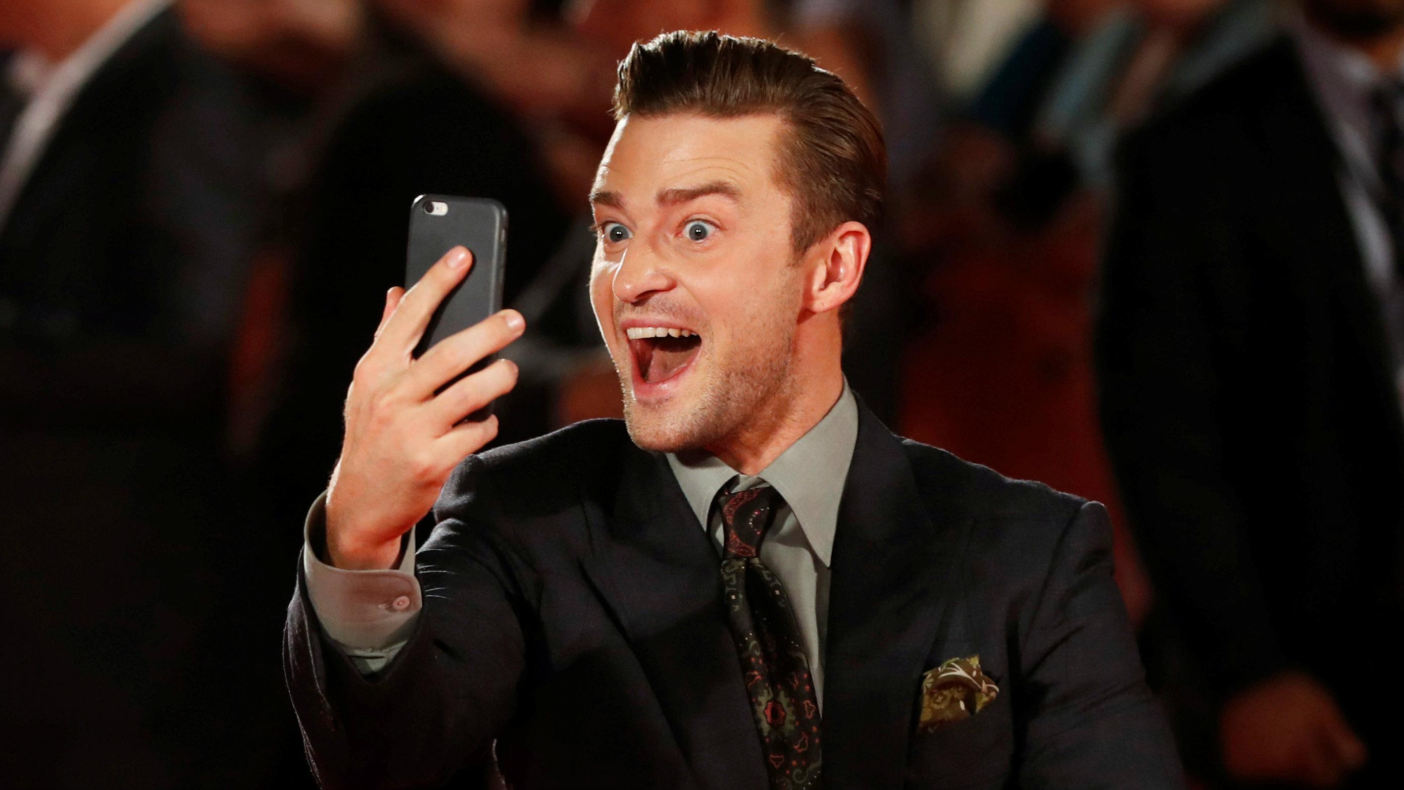 Justin Timberlake selfie
