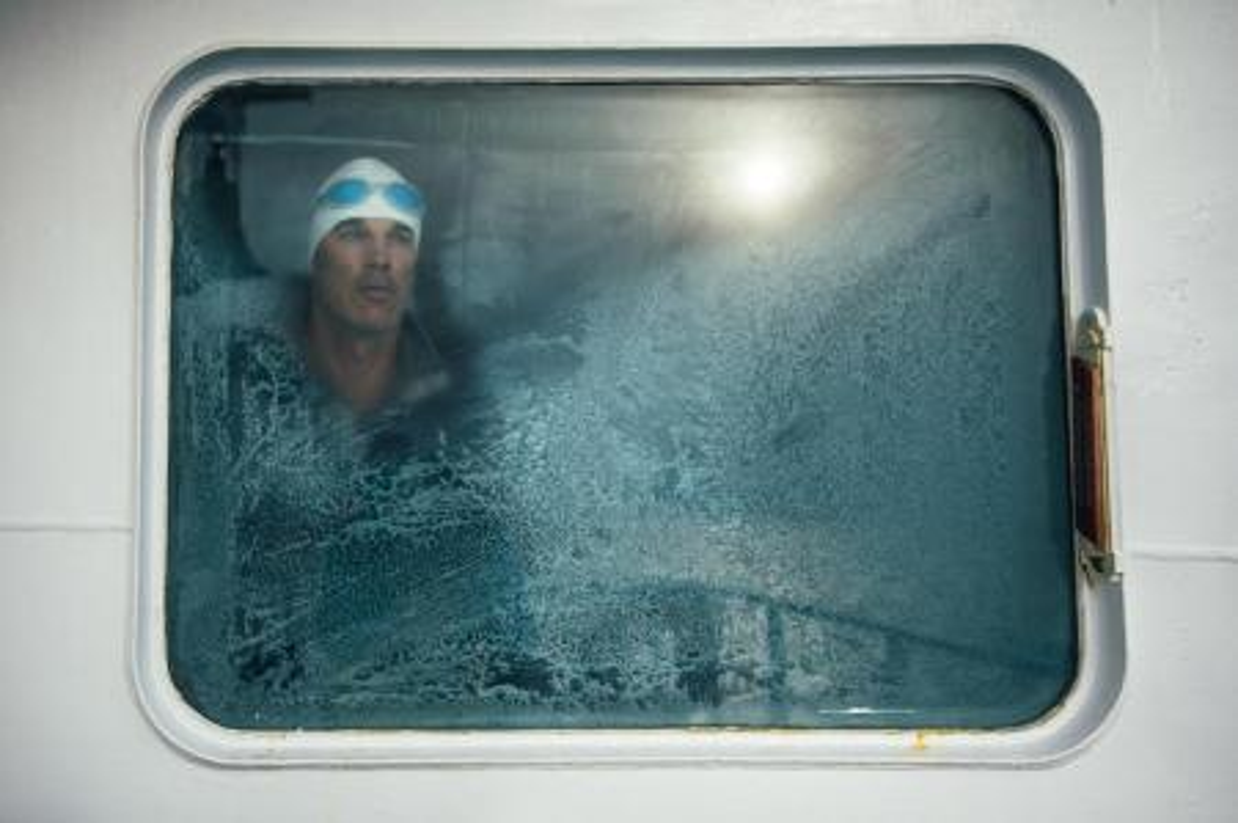 Lewis Pugh before the Ross Sea swim.
