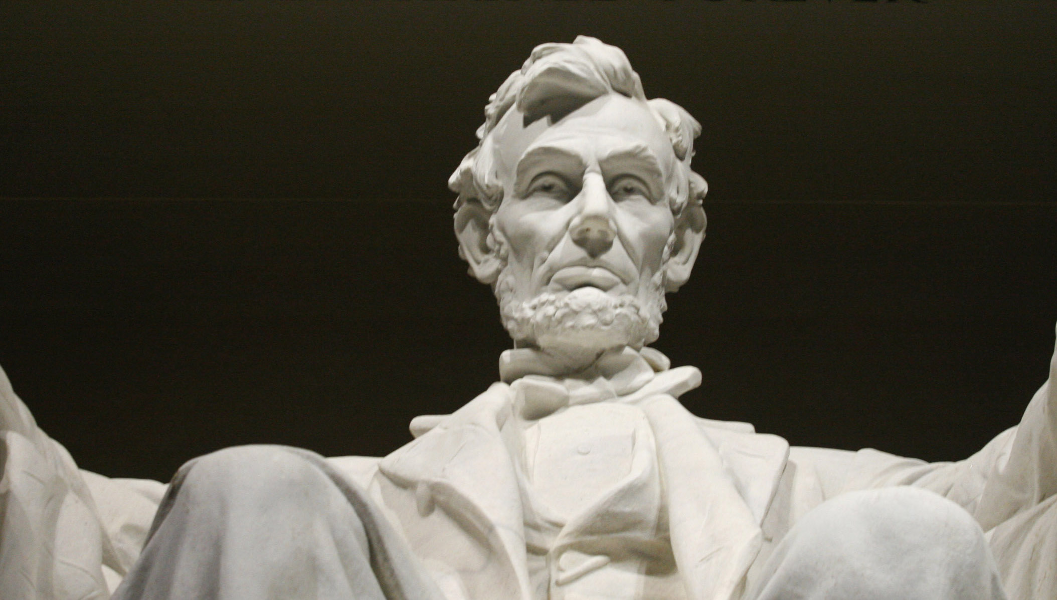 The statue of Abraham Lincoln at the Lincoln Memorial in Washington
