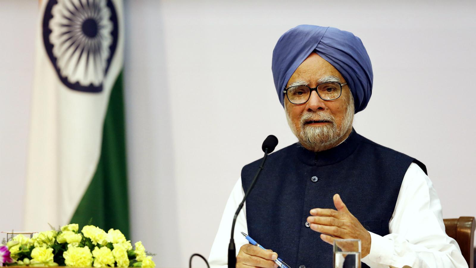 Former Indian prime minister Manmohan Singh in New Delhi in January 2014.