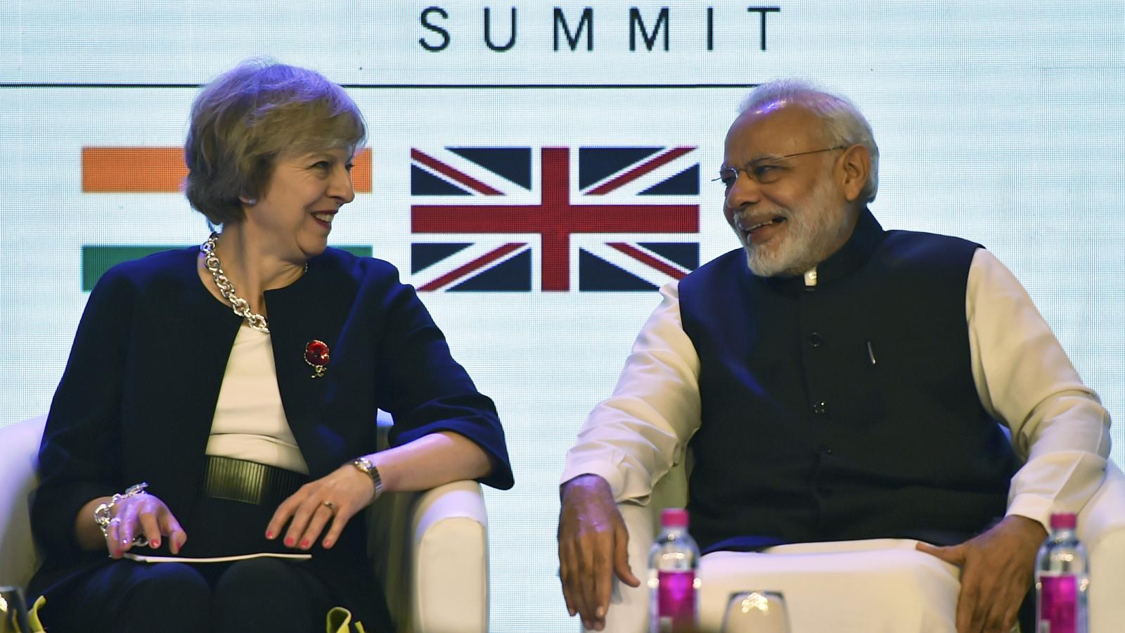 Narendra Modi-Theresa May-India-UK-Brexit-Europe