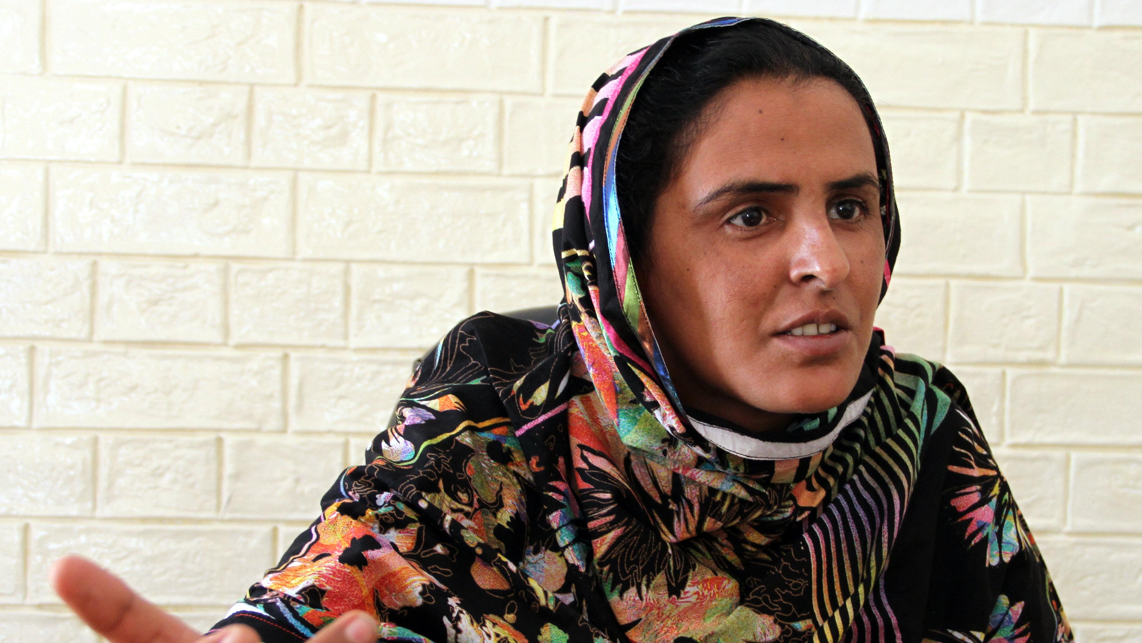Mukhtaran Mai, gang-rape victim in Pakistan.