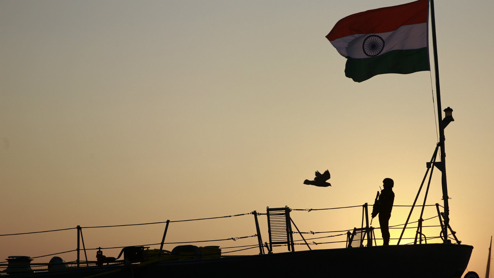 Indian Navy war ship INS Godavari in Mumbai in December 2015.