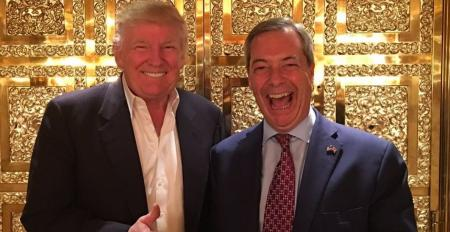 Trump and Farage in Trump Tower.