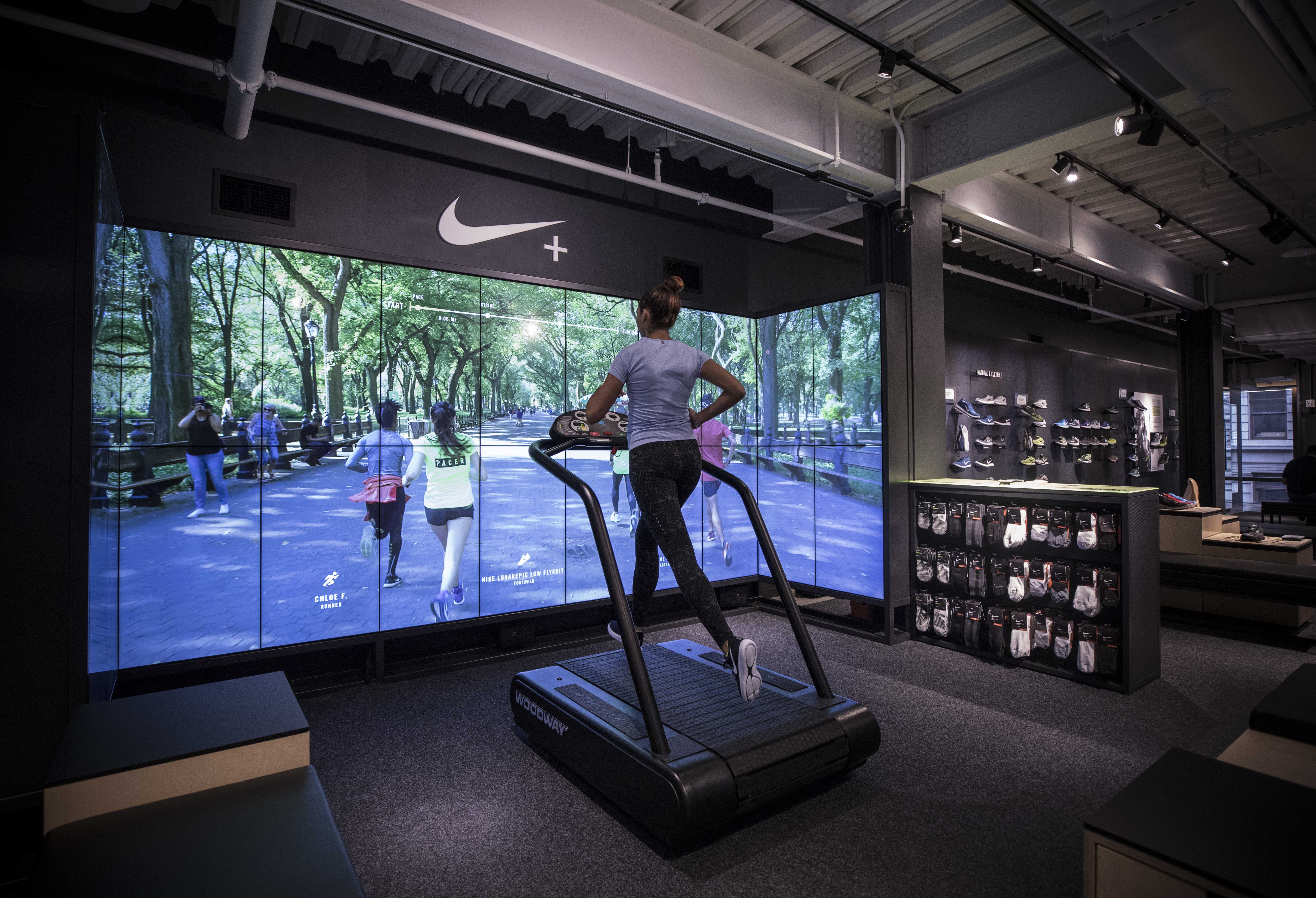 Nike running trial zone at its new Soho, New York, store