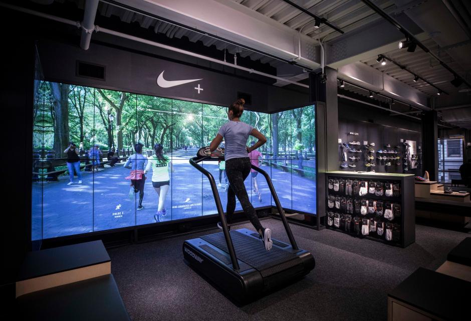 Nike s new store in New York has a basketball court where you can ... ea6548e96a48