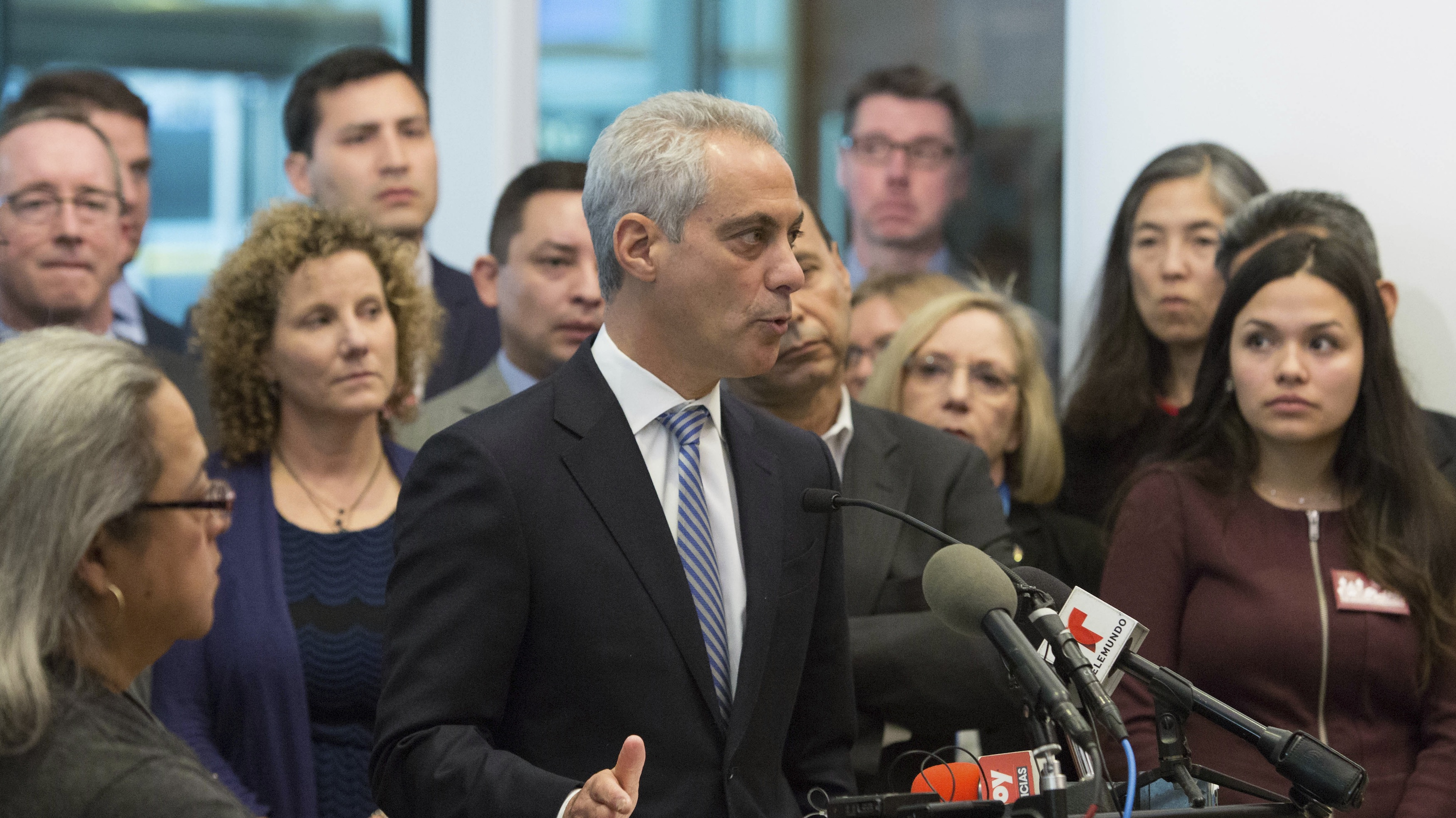 Mayor Emanuel says Chicago will remain a sanctuary city in the age of Trump.