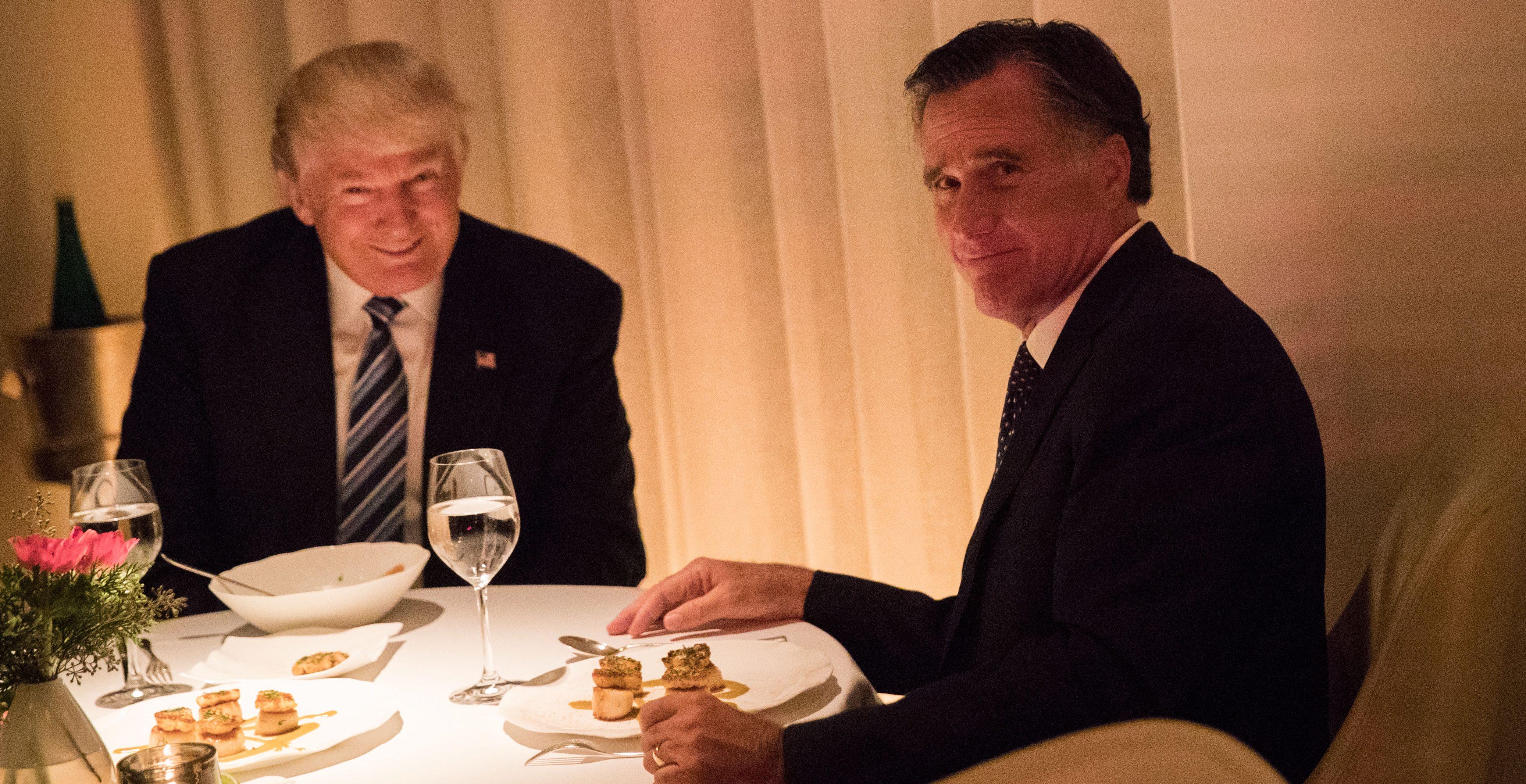 Romney Trump Dinner
