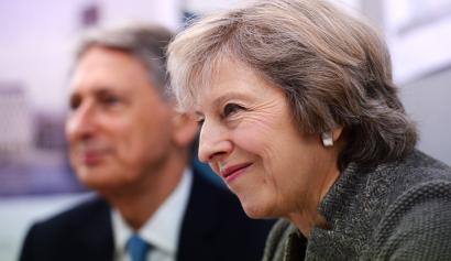 UK Prime Minister Theresa May and Chancellor of the Exchequer Philip Hammond