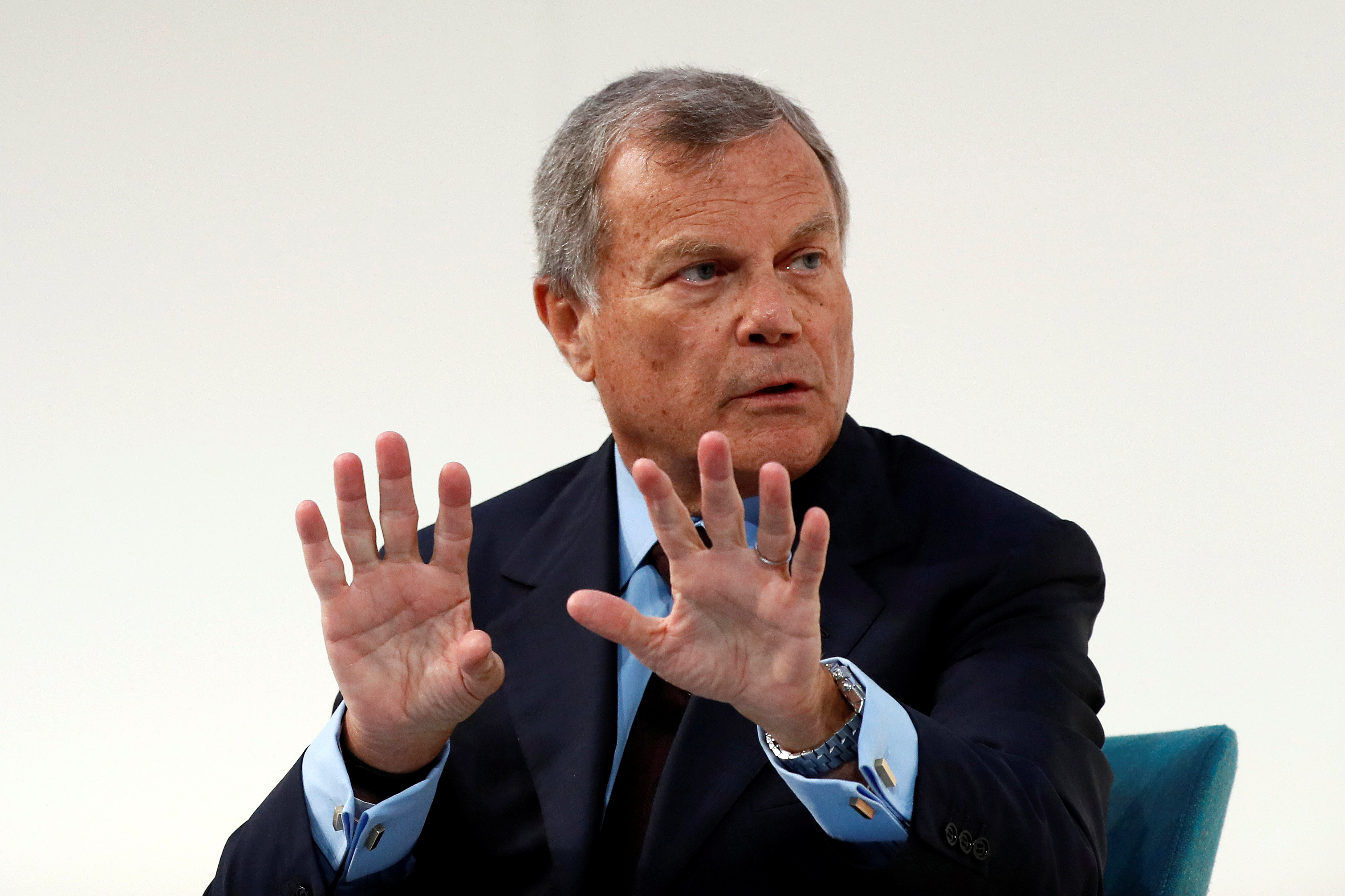 Martin Sorrell, chairman and chief executive officer of WPP, the world's largest advertising company, speaks at the Confederation of British Industry's (CBI) annual conference in London, Britain November 21, 2016. REUTERS/Stefan Wermuth - RTSSNS0