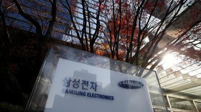 The logo of Samsung Electronics is seen at its headquarters in Seoul, South Korea, November 29, 2016.