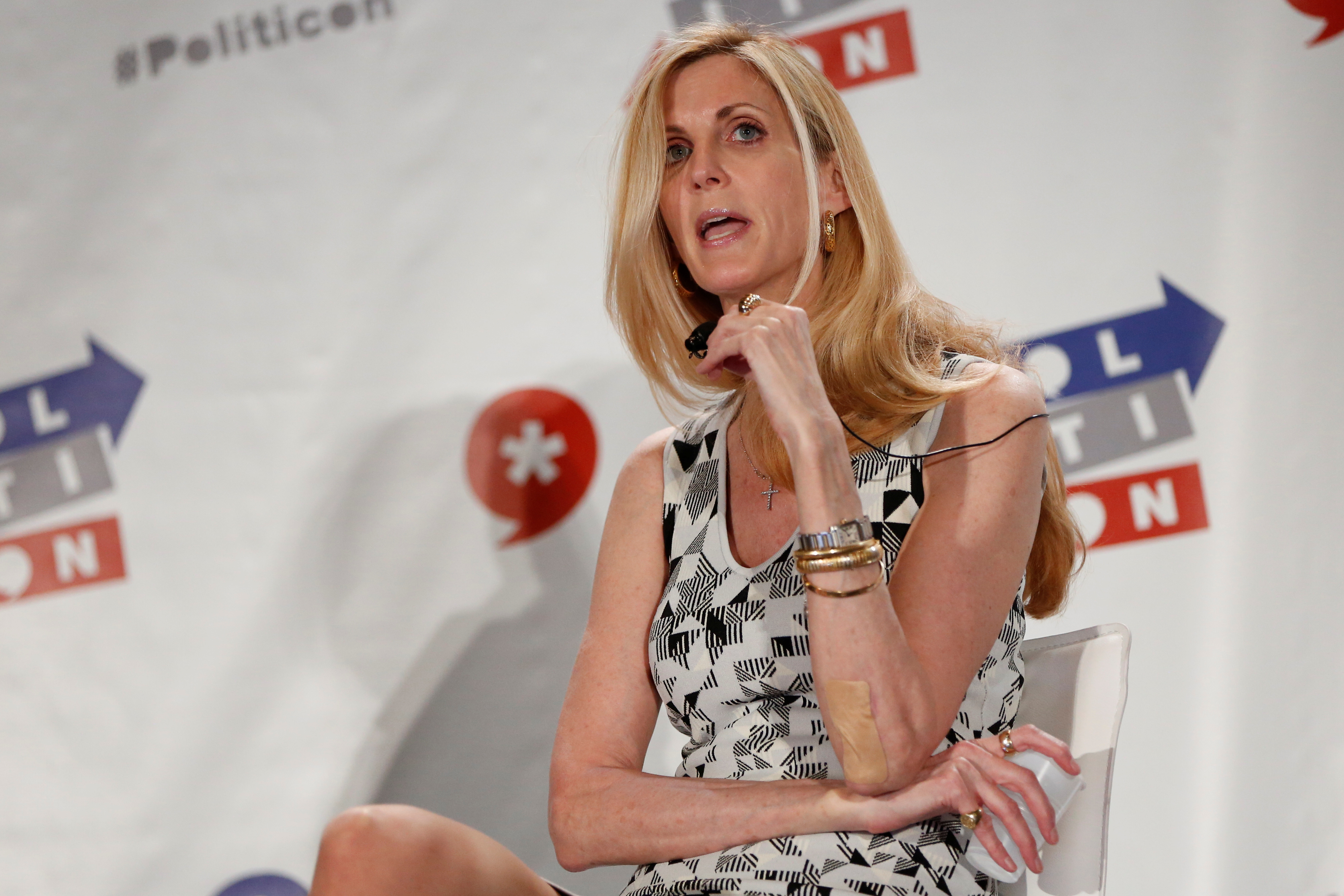 Ann Coulter right wing pundit speaks at conference