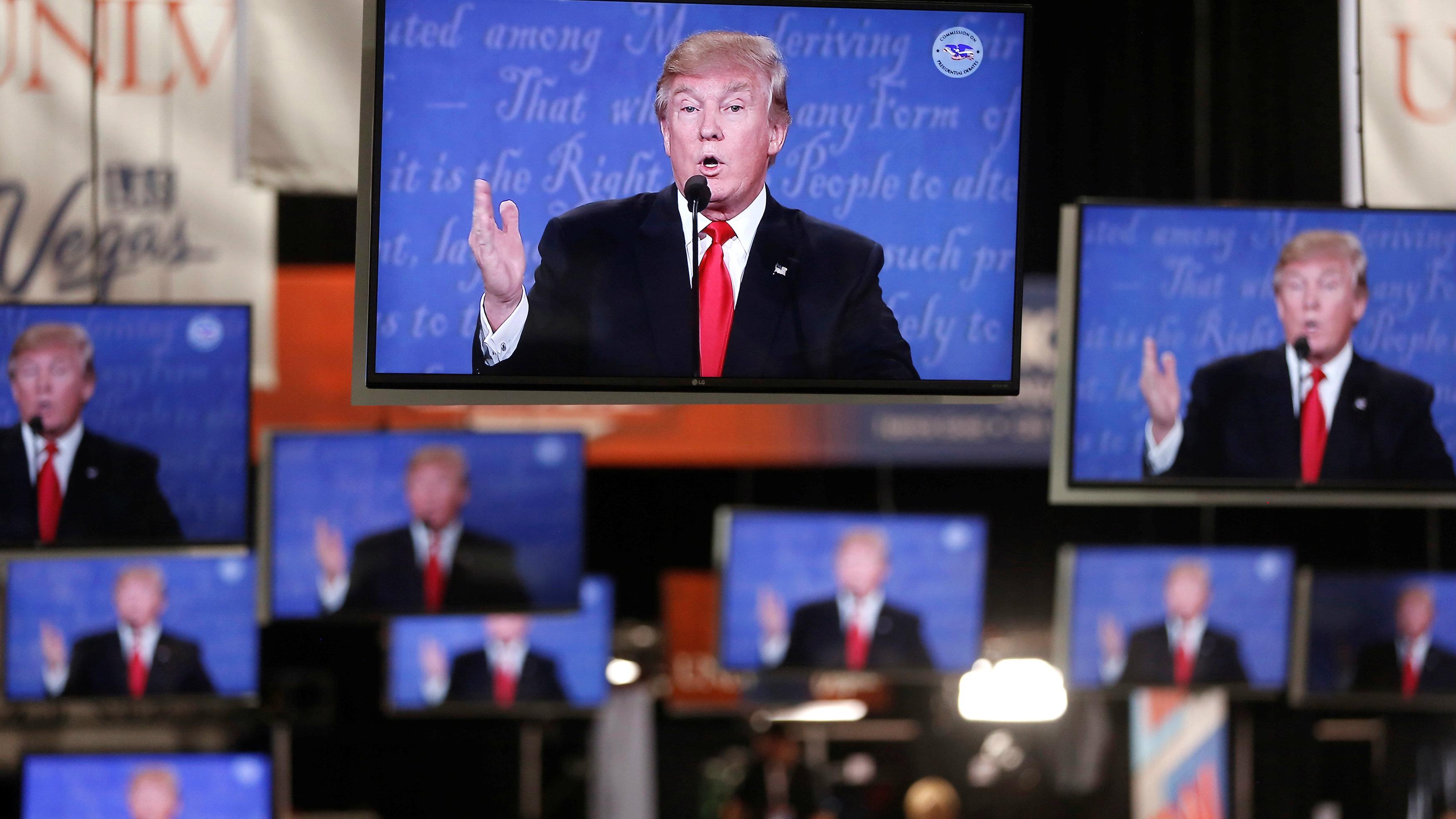 Donald Trump on TV.