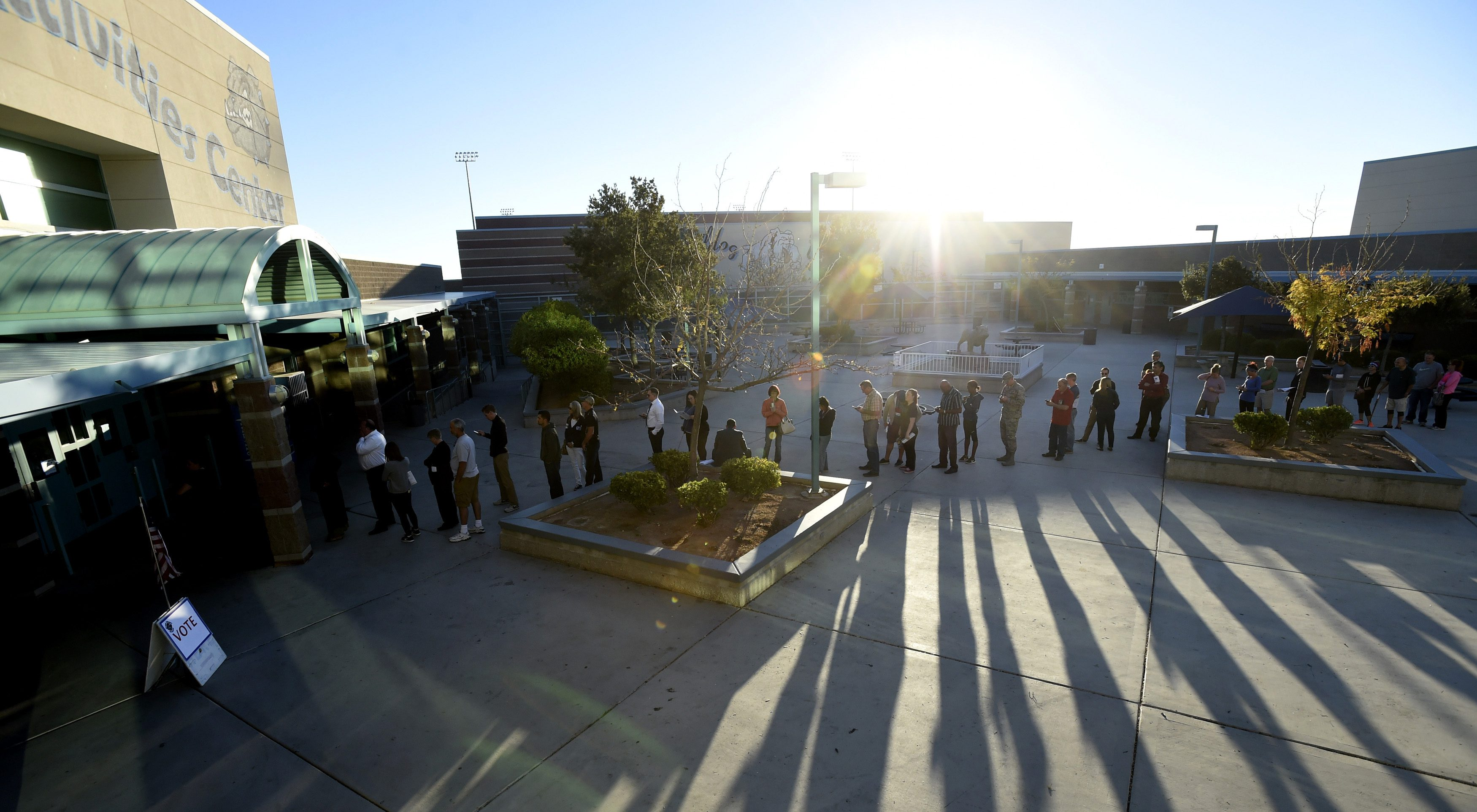Lines at a Las Vegas polling station for 2016 election