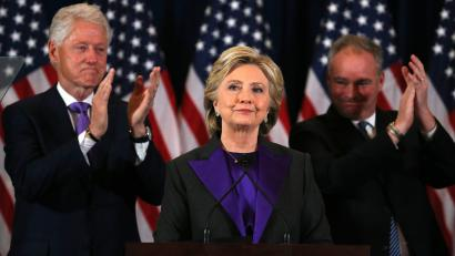 "Hillary's Clinton's speech conceding the election to Donald Trump: ""I still  believe in America and I always will."" — Quartz"