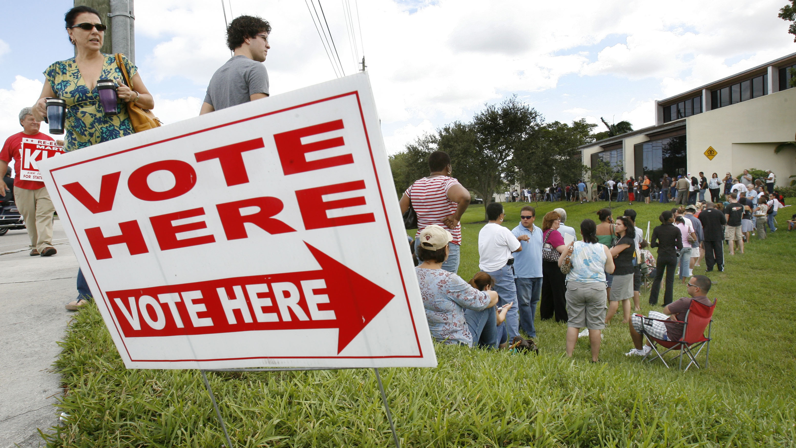 In 2008 some voters waited in line for as long as 4 hours.