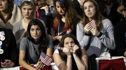 Sad Clinton supporters