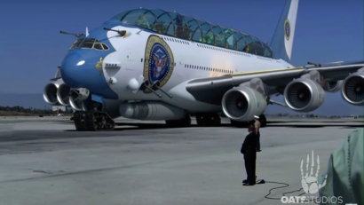 neill blomkamp's reimaging of donald trump's air force one