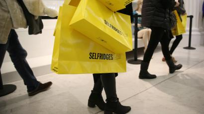 Shopping bags from Selfridges, a UK department store