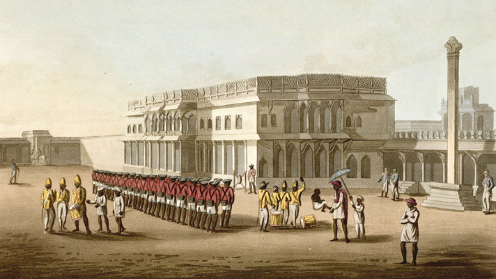 An East India Company settlement in Kolkata in the 19th century.