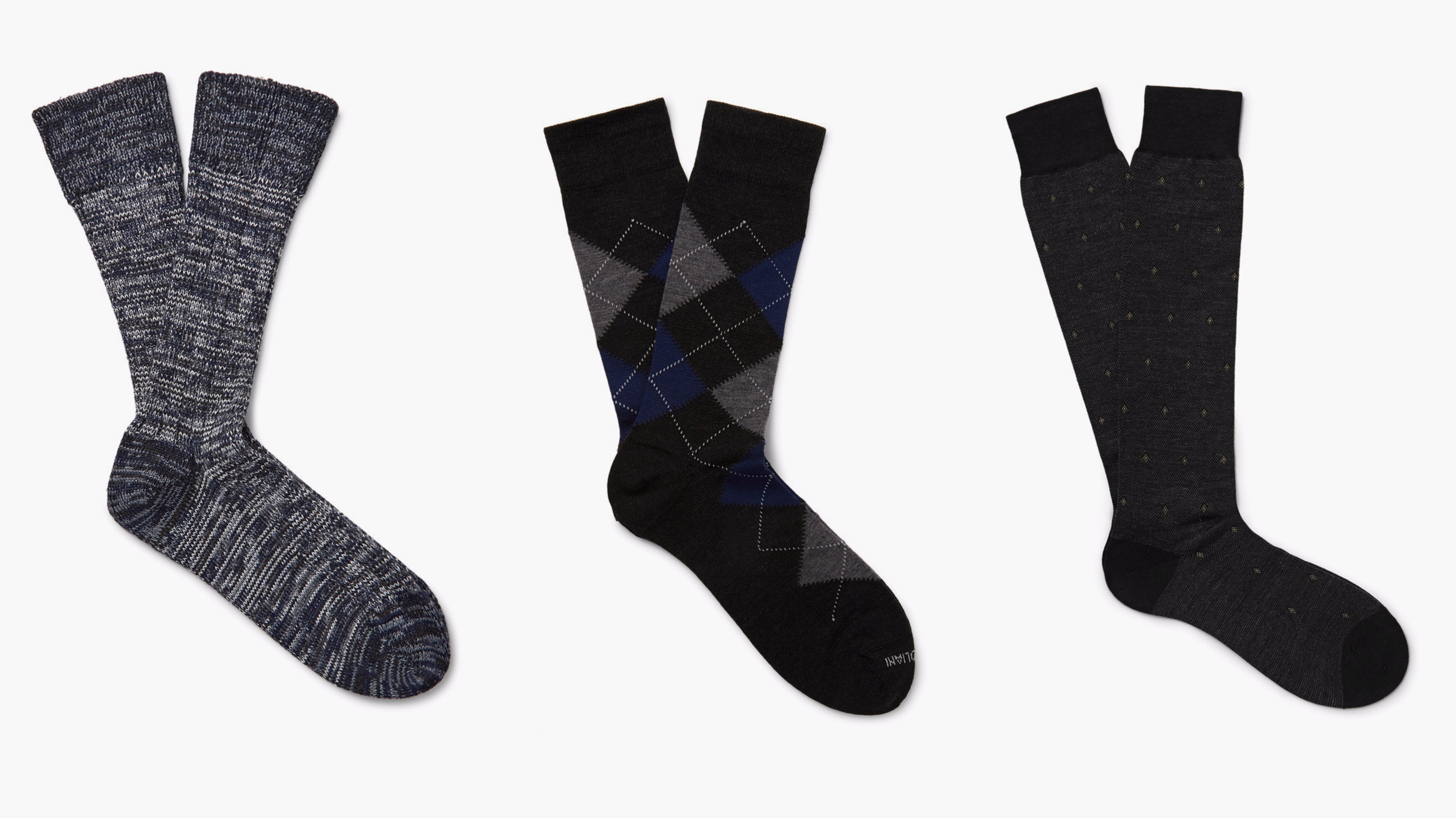 Wool socks by The Worker's Club, Marcoliani, and Pantherella