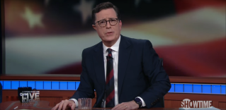 Screenshot of Showtimes election night special with Stephen Colbert
