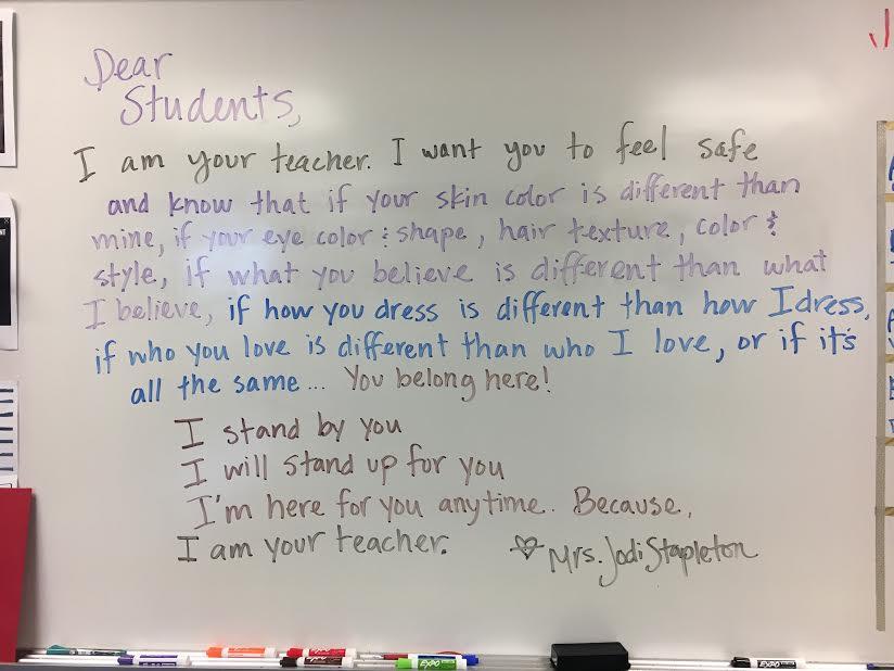 Texas teacher sign