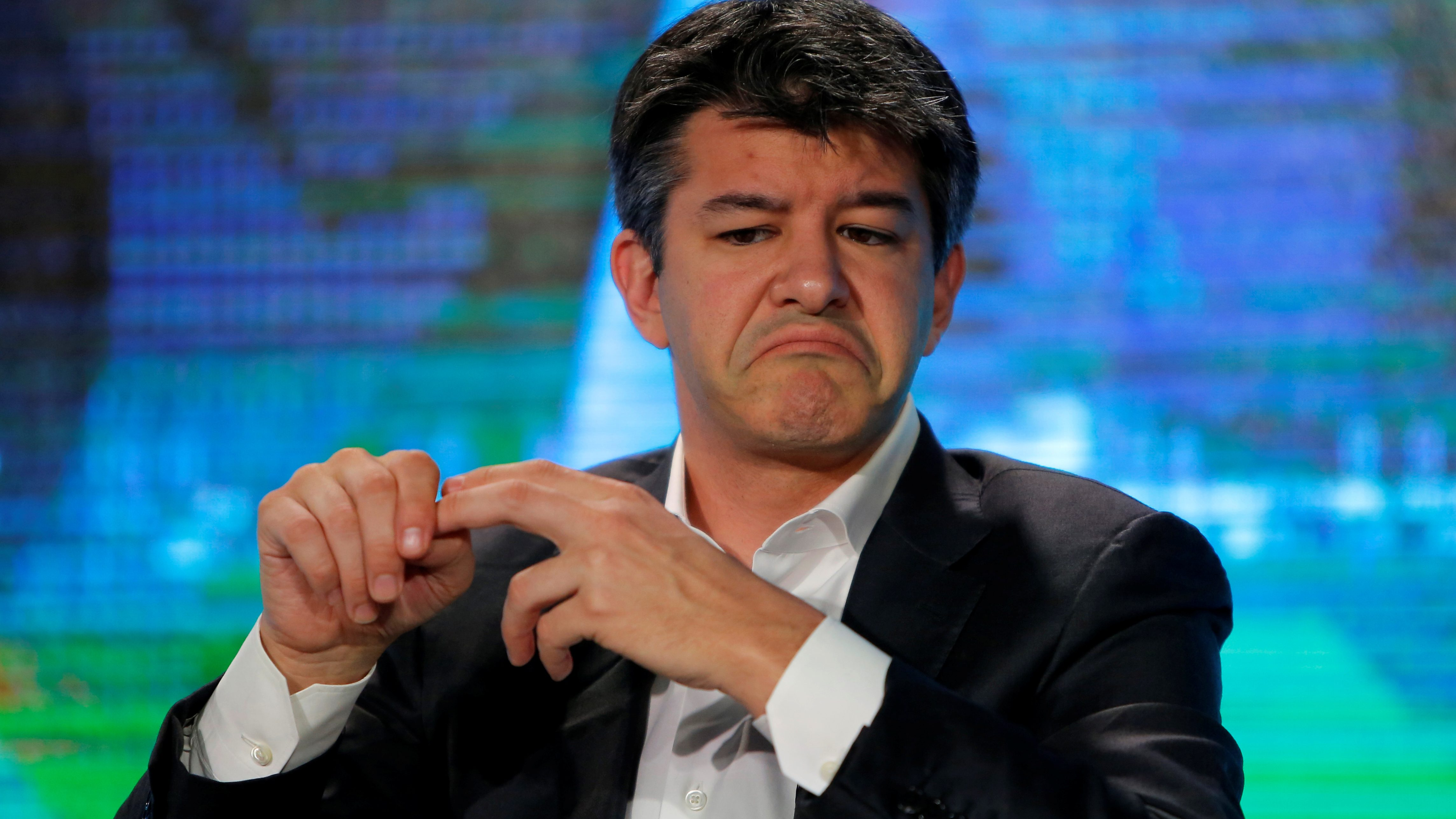 Uber CEO Travis Kalanick attends the summer World Economic Forum in Tianjin, China, June 26, 2016. REUTERS/Shu Zhang - RTX2I8Y7