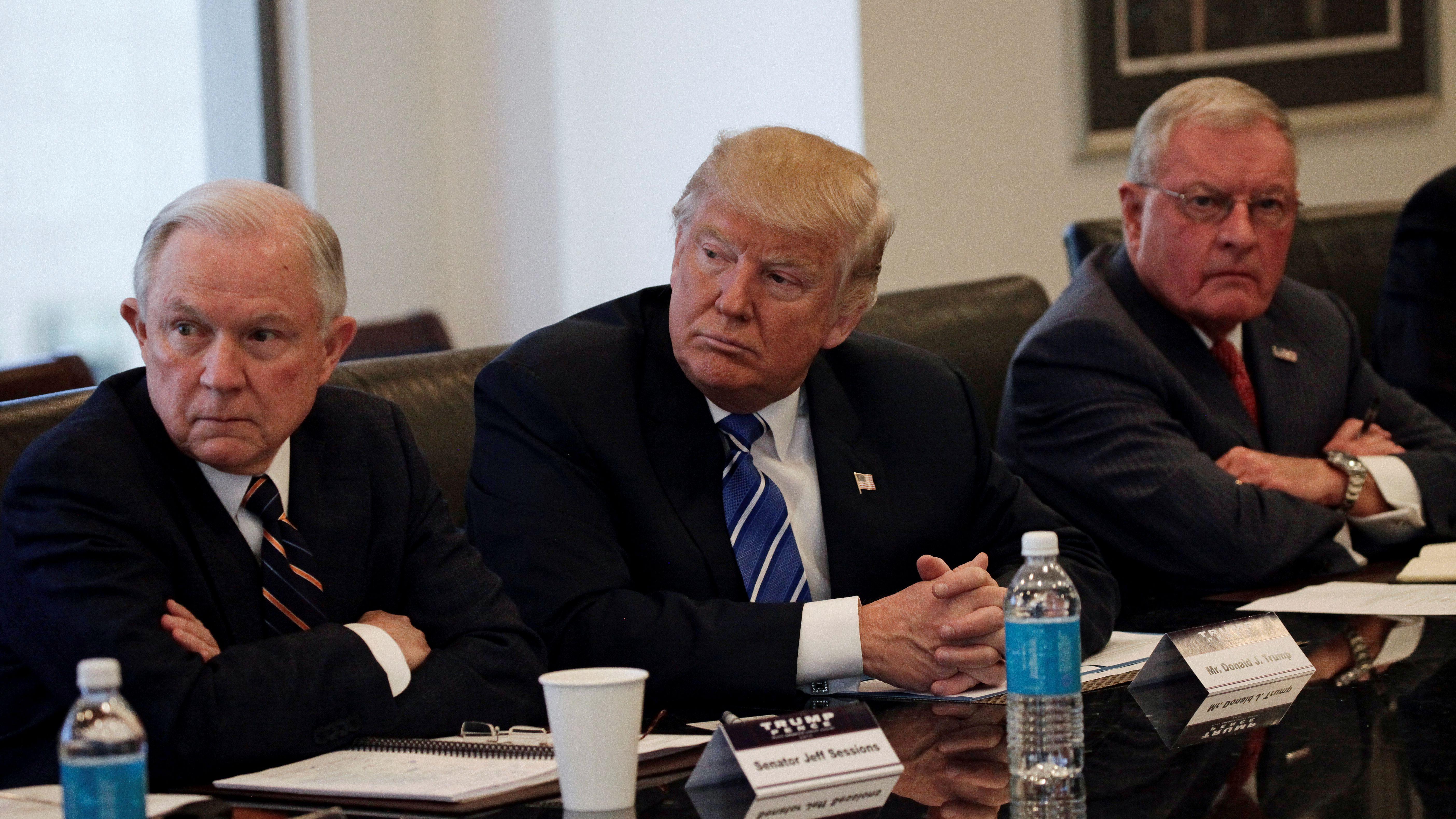Donald Trump briefing