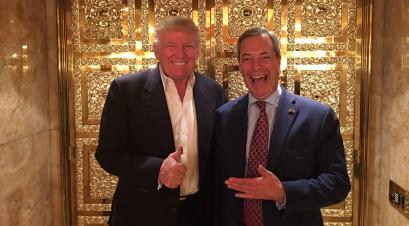 The outsiders. Trump with Britain's Farage.