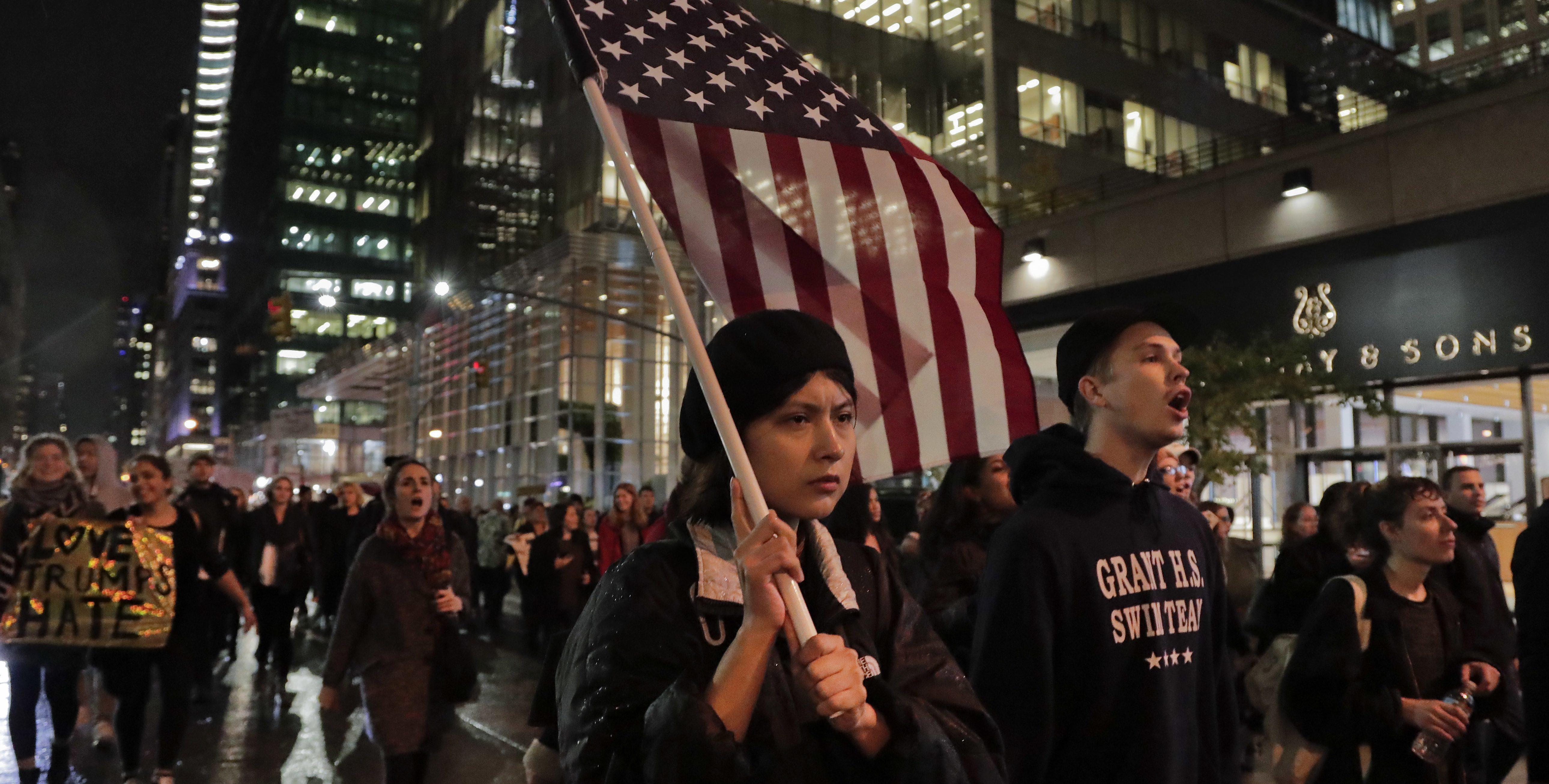 Trump Protests New York